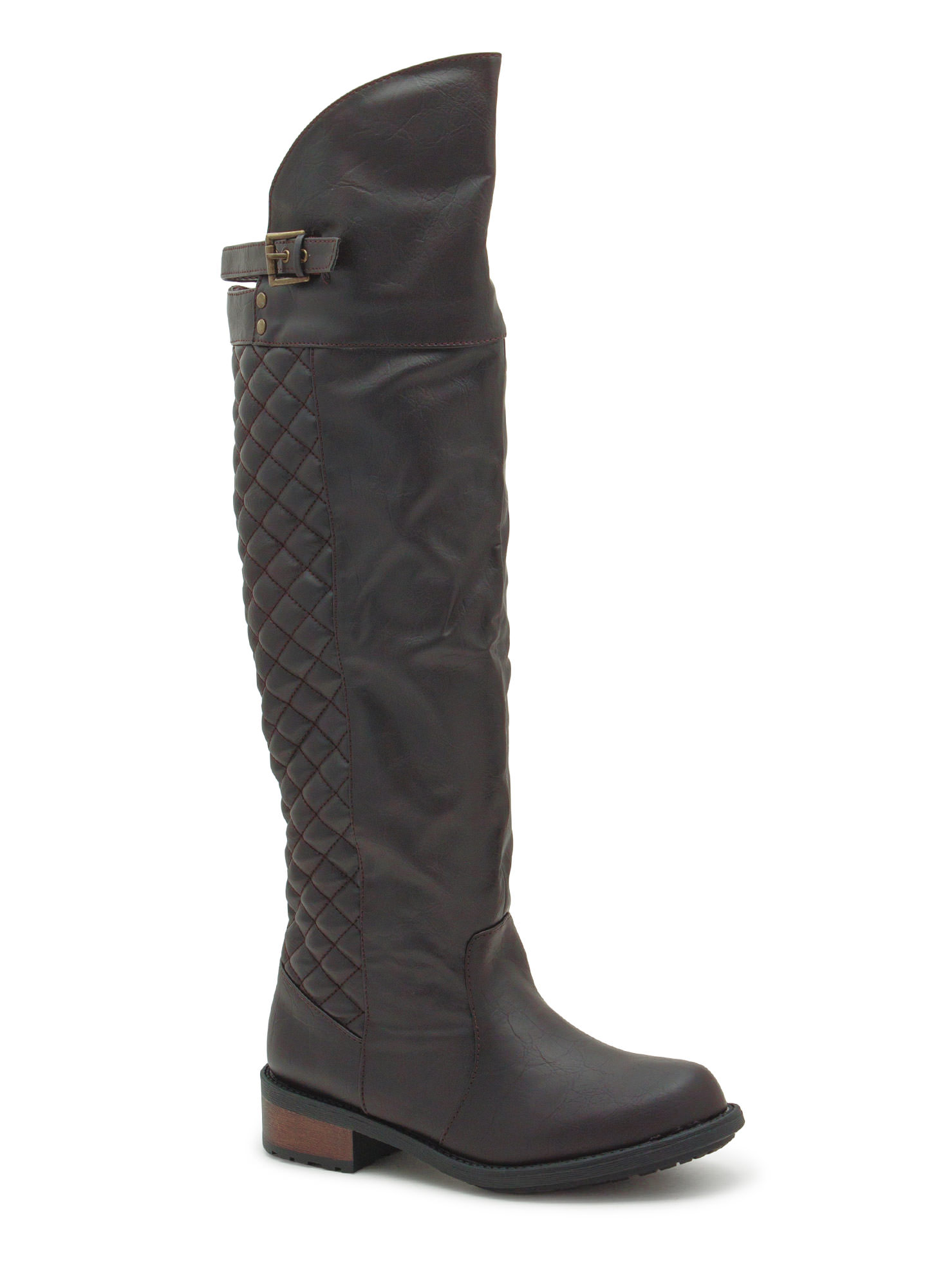 Quilty Pleasure Over-The-Knee Boots BROWN