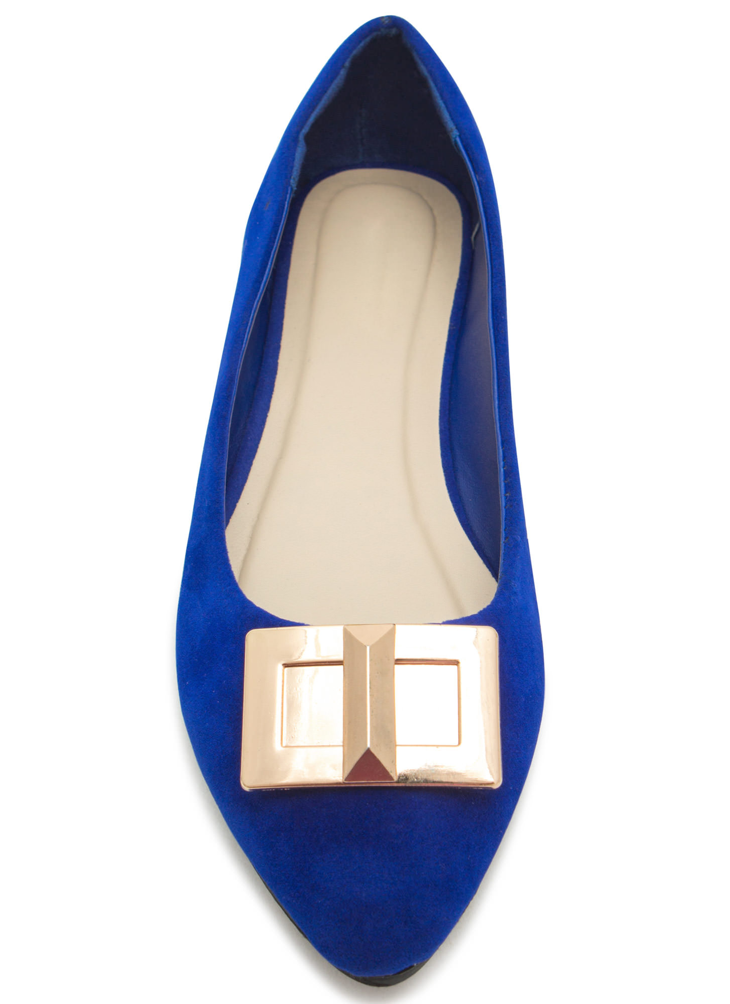 Pick The Lock Faux Suede Flats BLUE