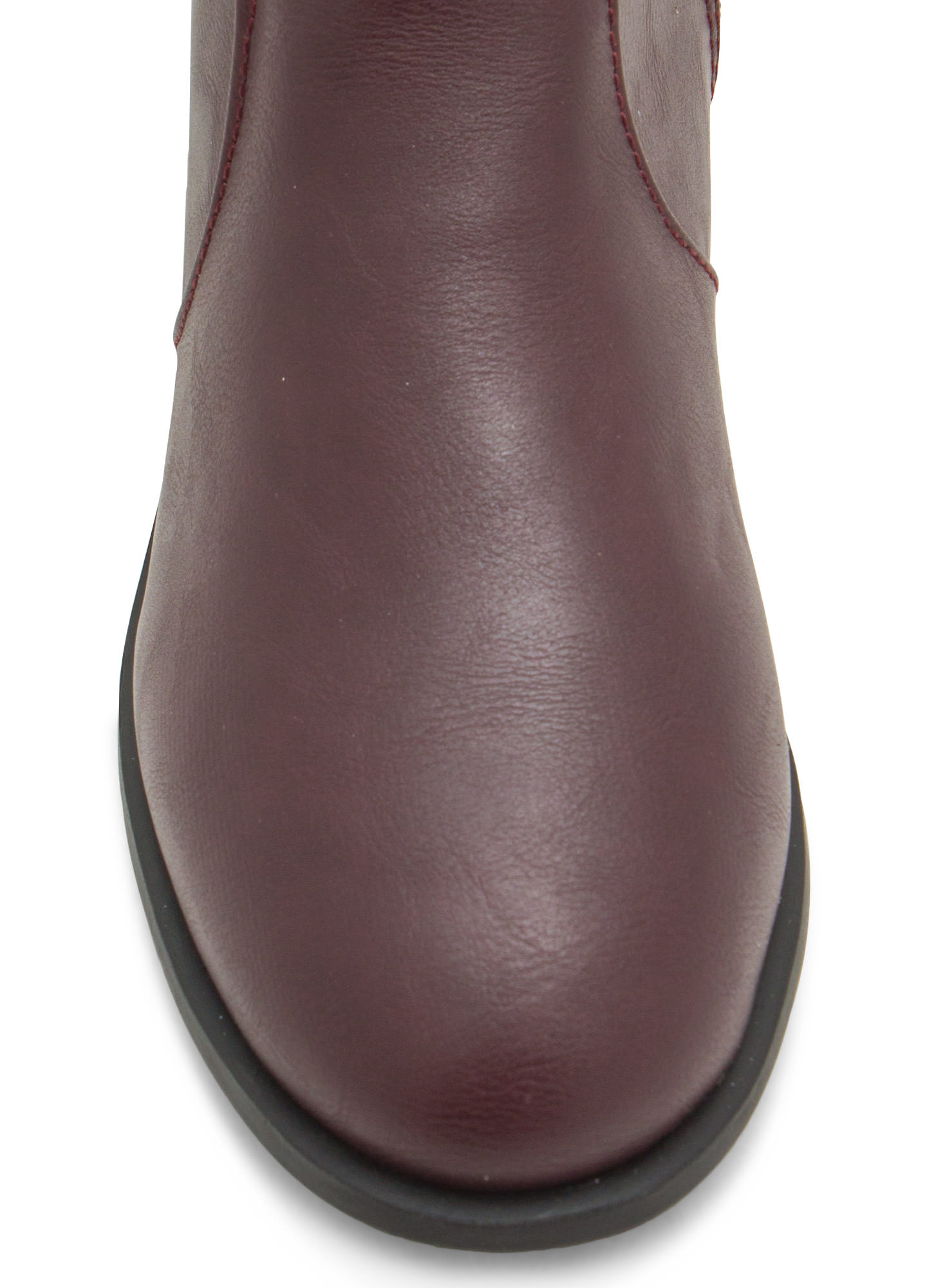 Double Twist Lock Cuffed Boots OXBLOOD