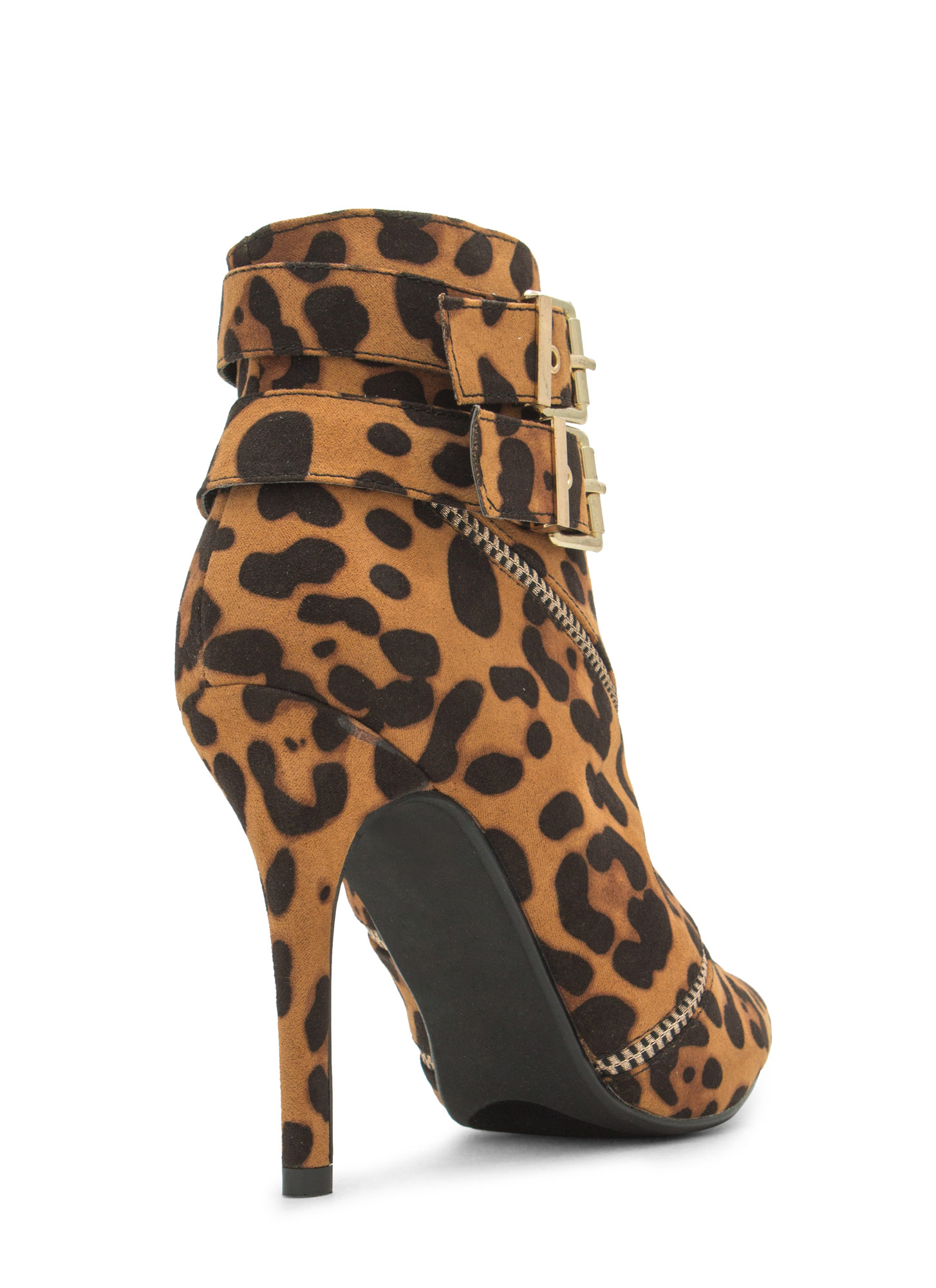 Two Is Better Than One Booties LEOPARD