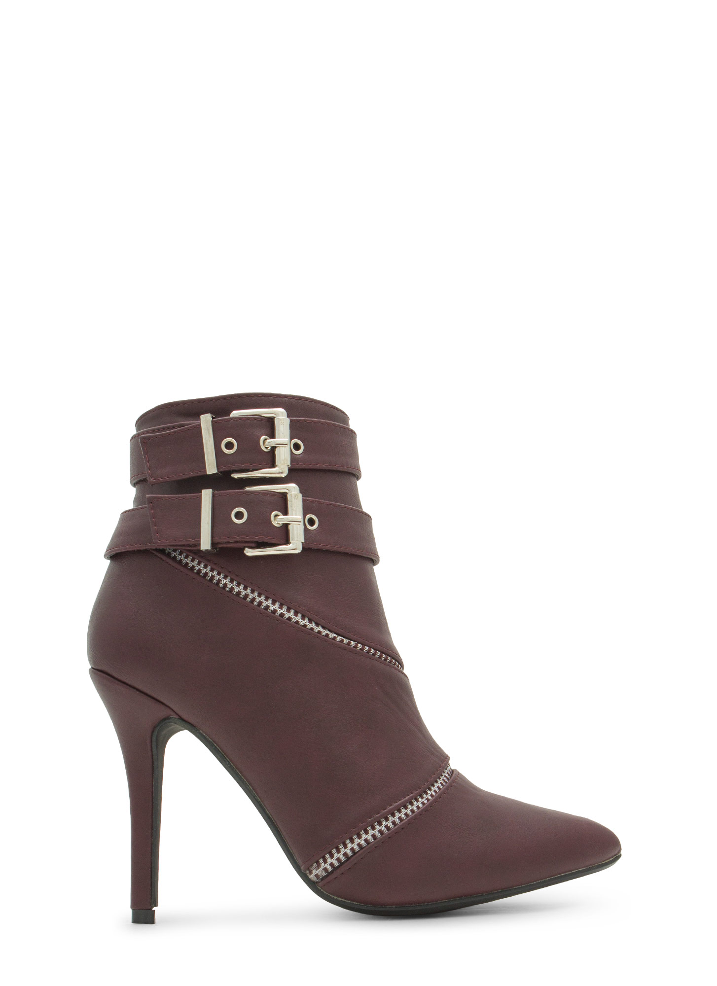 Two Is Better Than One Booties OXBLOOD