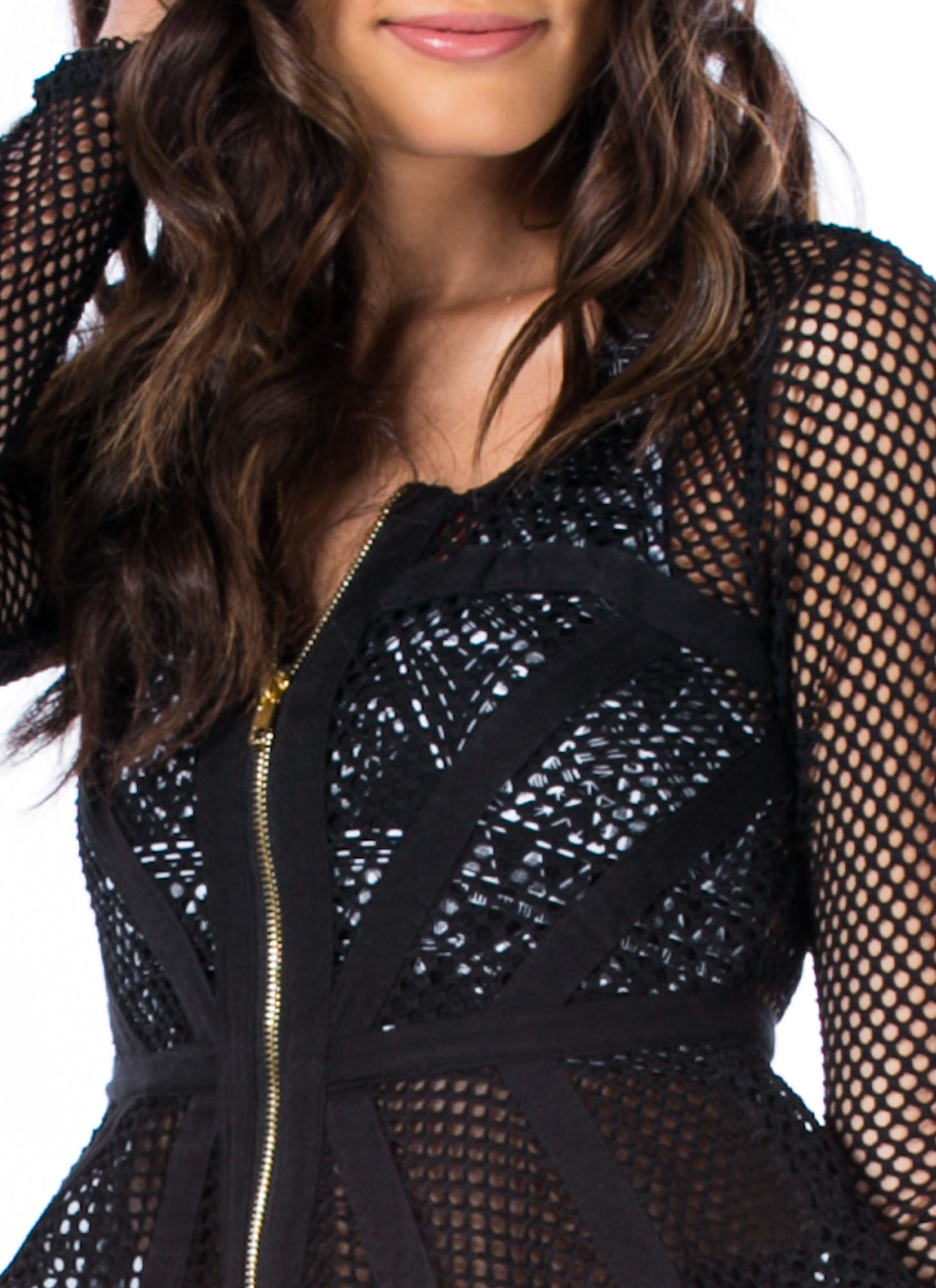 Nothin' But Net Peplum Jacket BLACK