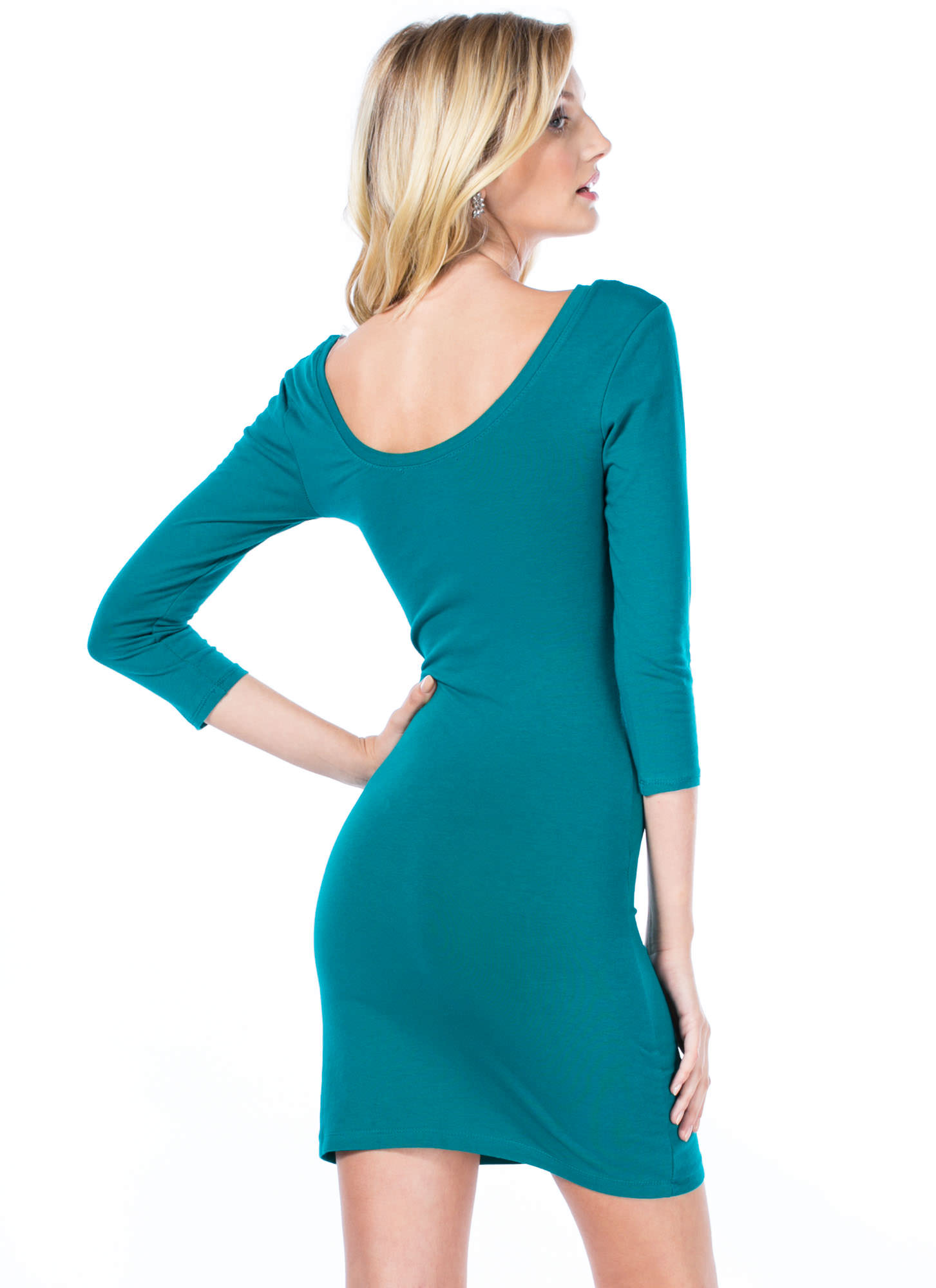 Perfect Basic Scooped Bodycon Dress JADE