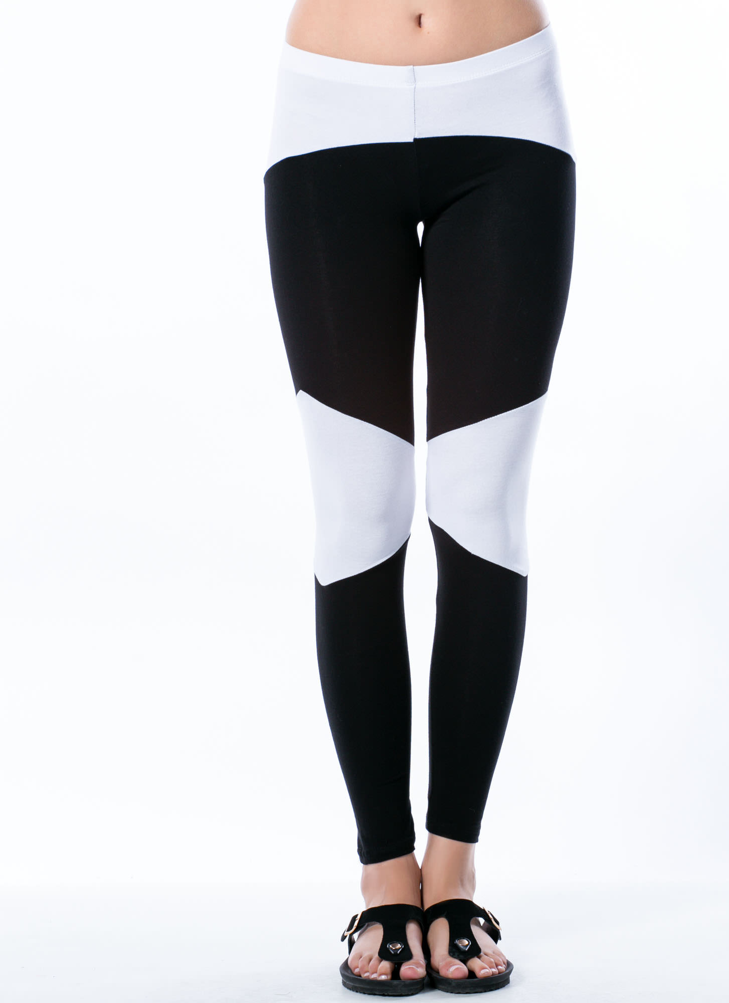 Rock 'Em Colorblock 'Em Leggings BLKWHITE