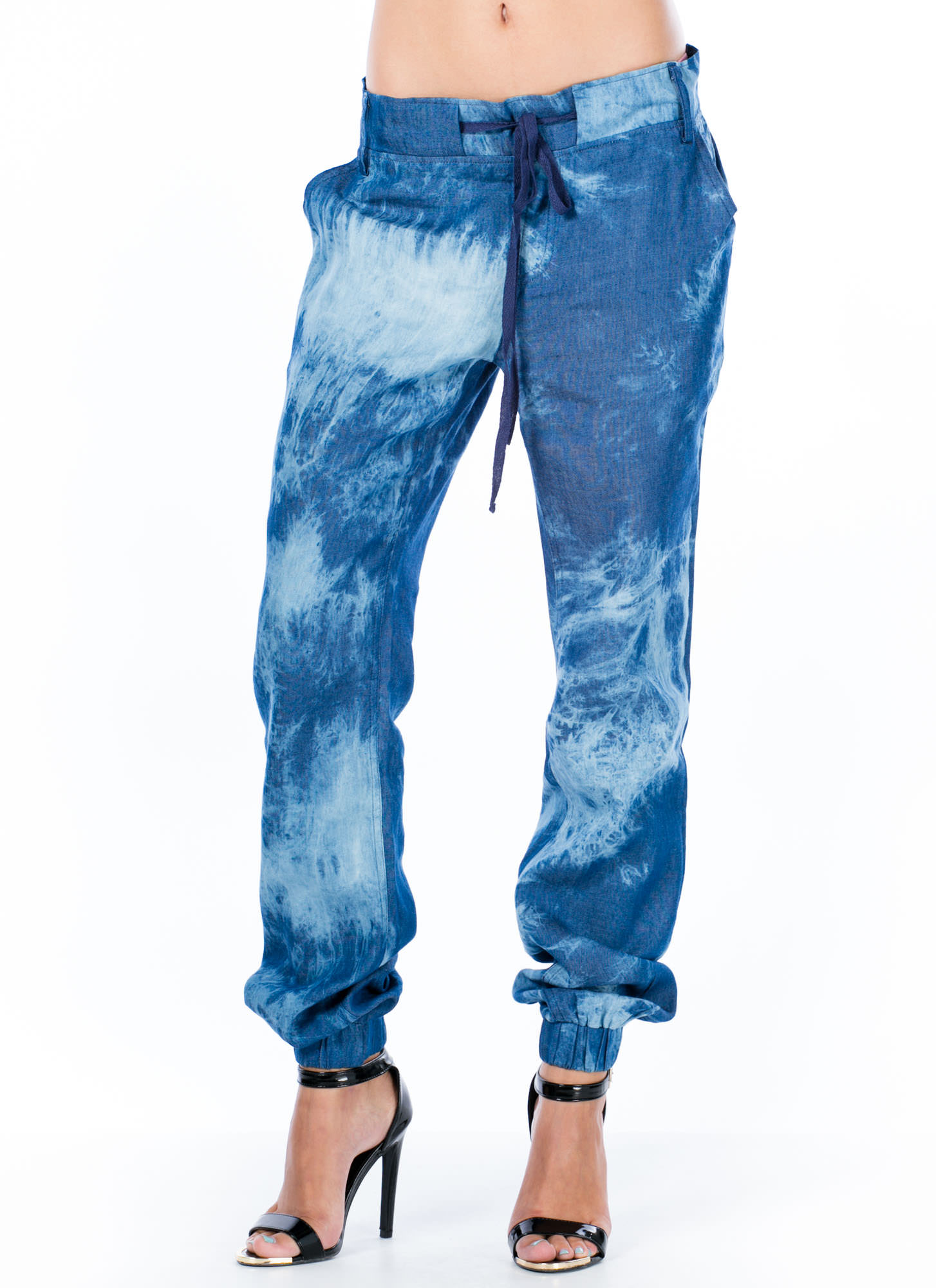 Tie-Dye For Chambray Pants BLUE