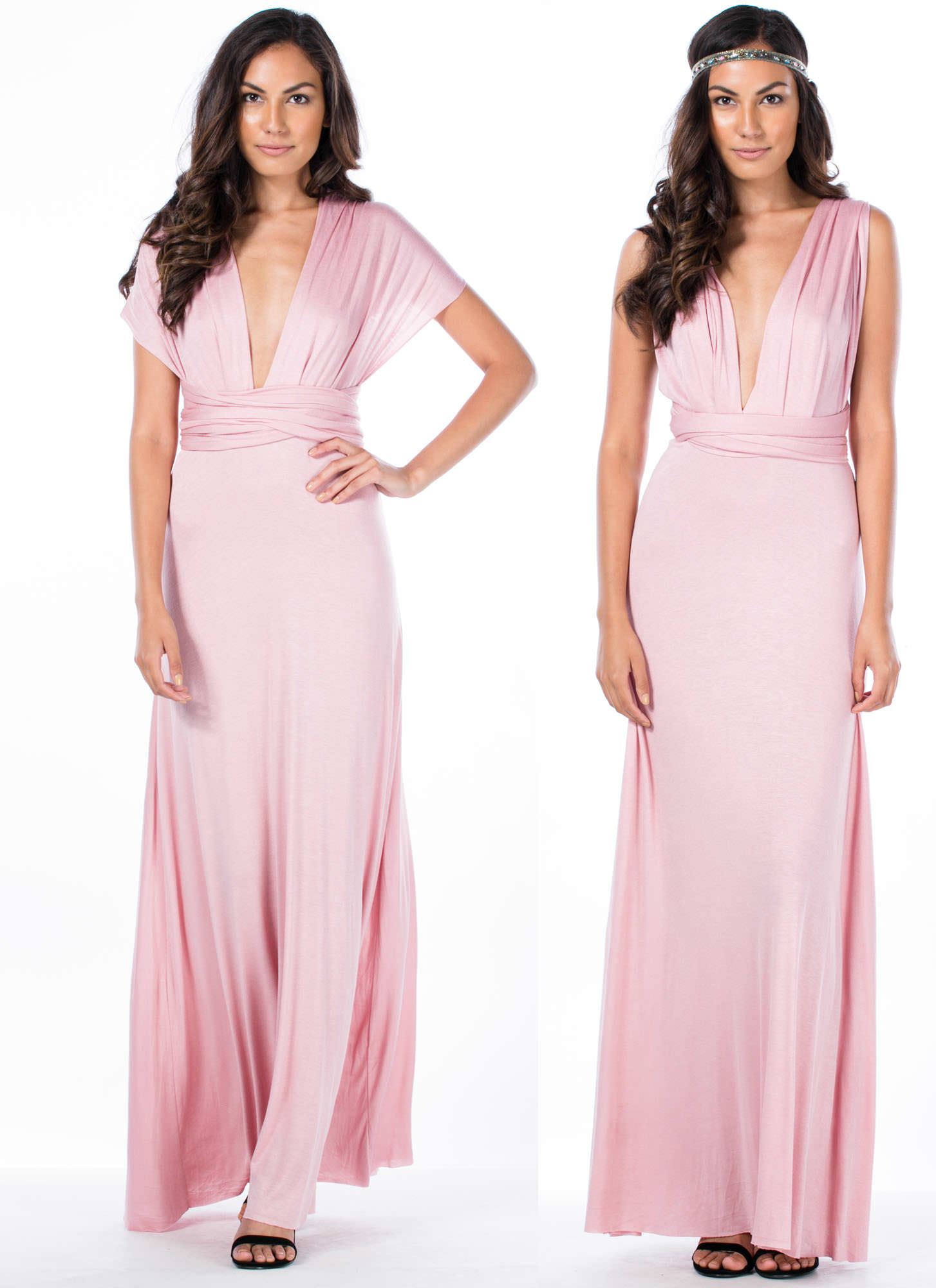 Chic-Shifter Convertible Maxi Dress BLUSH