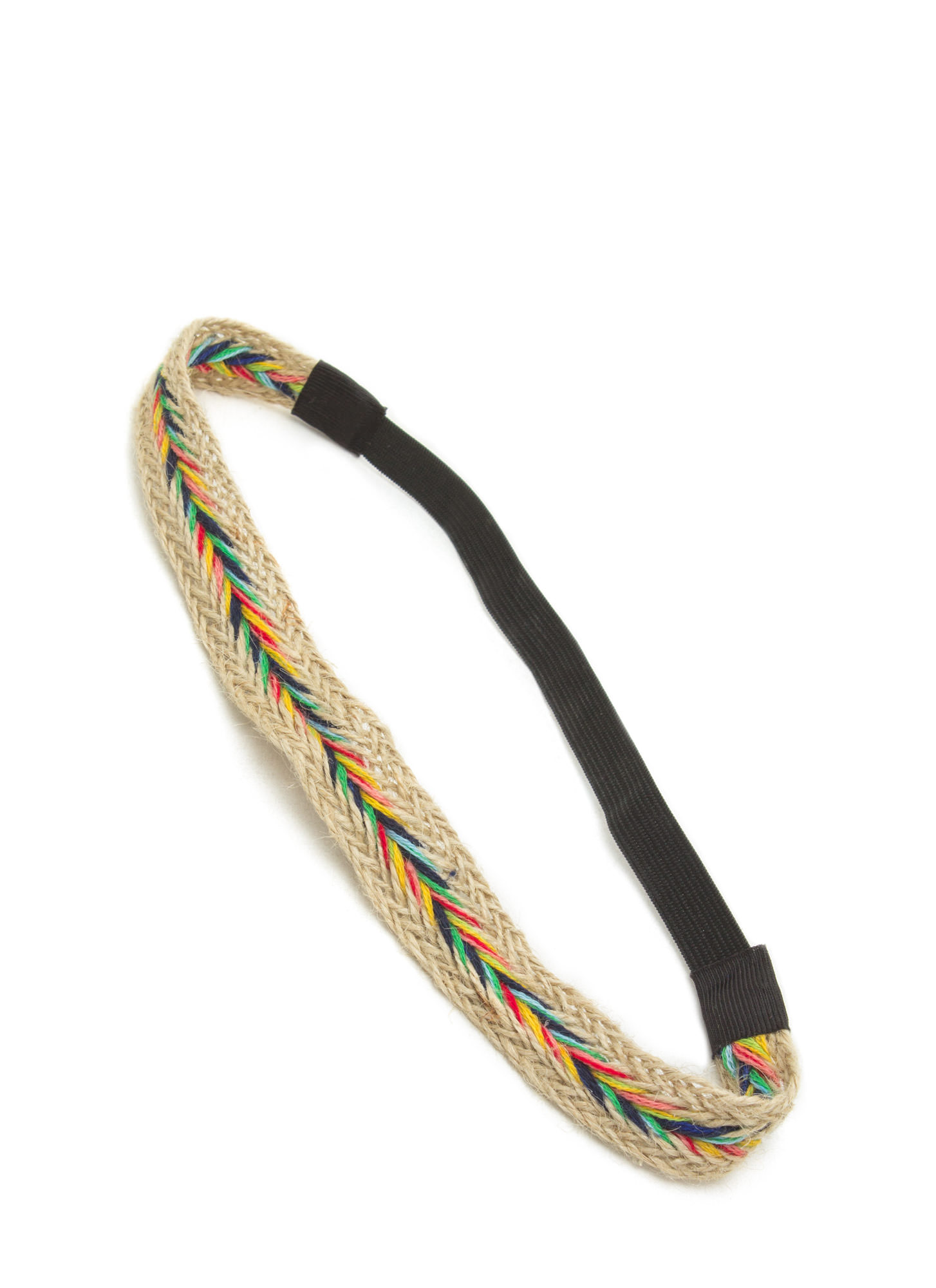 Fishtail Braided Multicolor Headband BEIGEMULTI