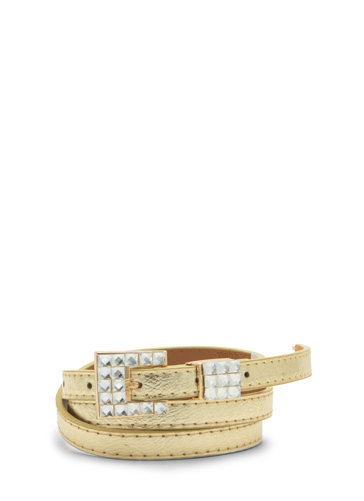 Cubist Jewels Skinny Belt GOLDCLEAR