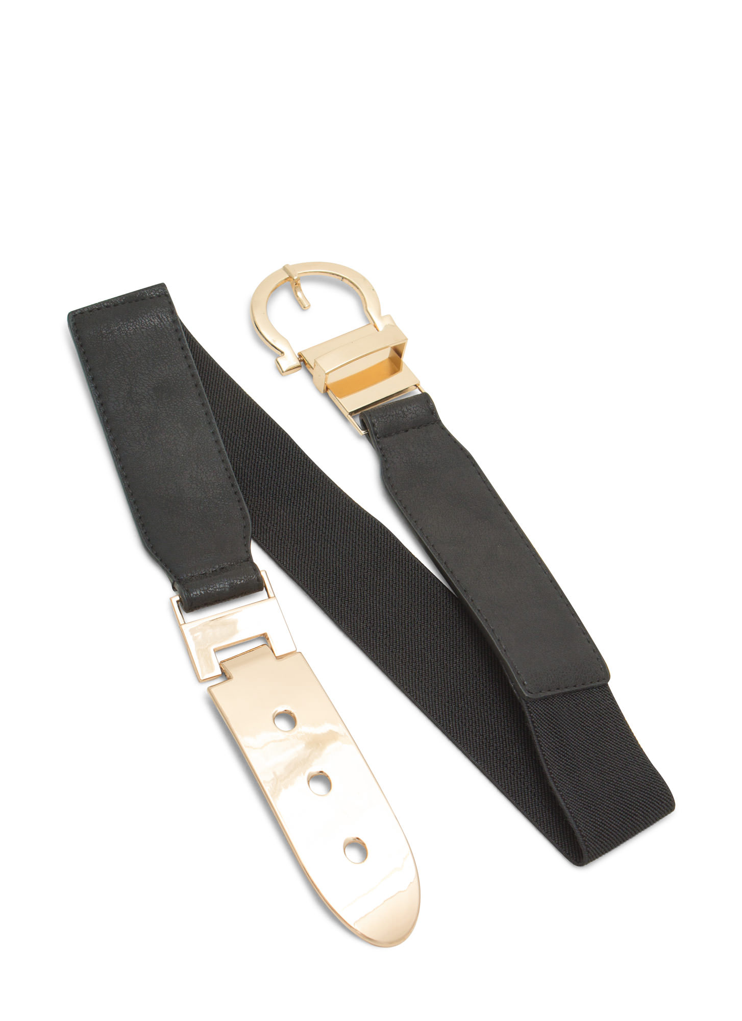 Buckle Up Metal Plate Belt BLACKGOLD