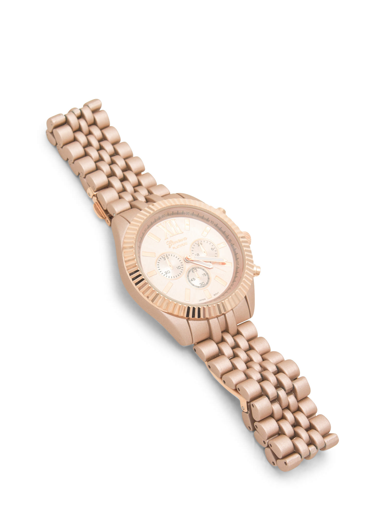 Mixed Finish Boyfriend Watch DUSTYPINK