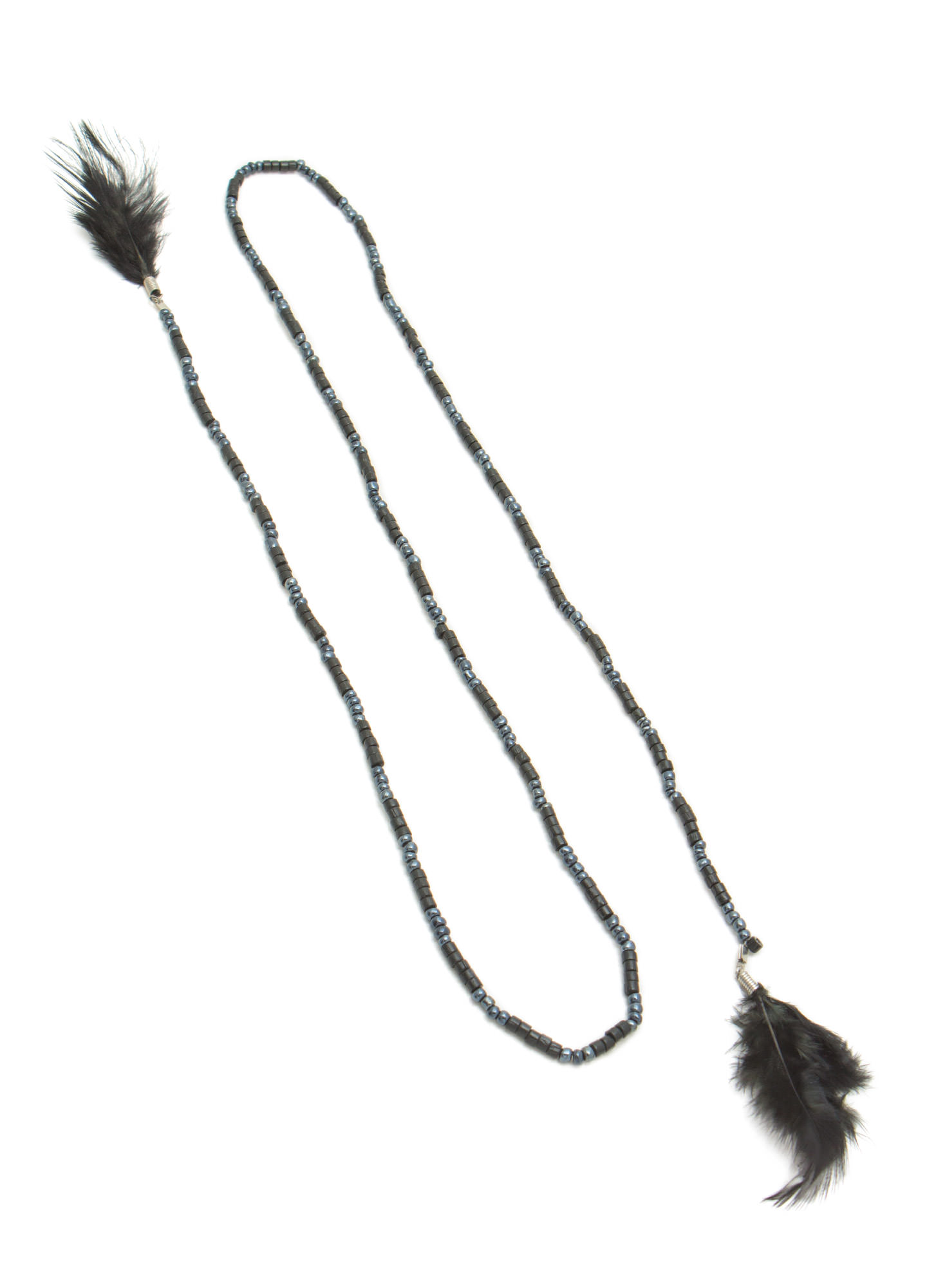 Multi-Purpose Bead 'N Feather Strand BLACK