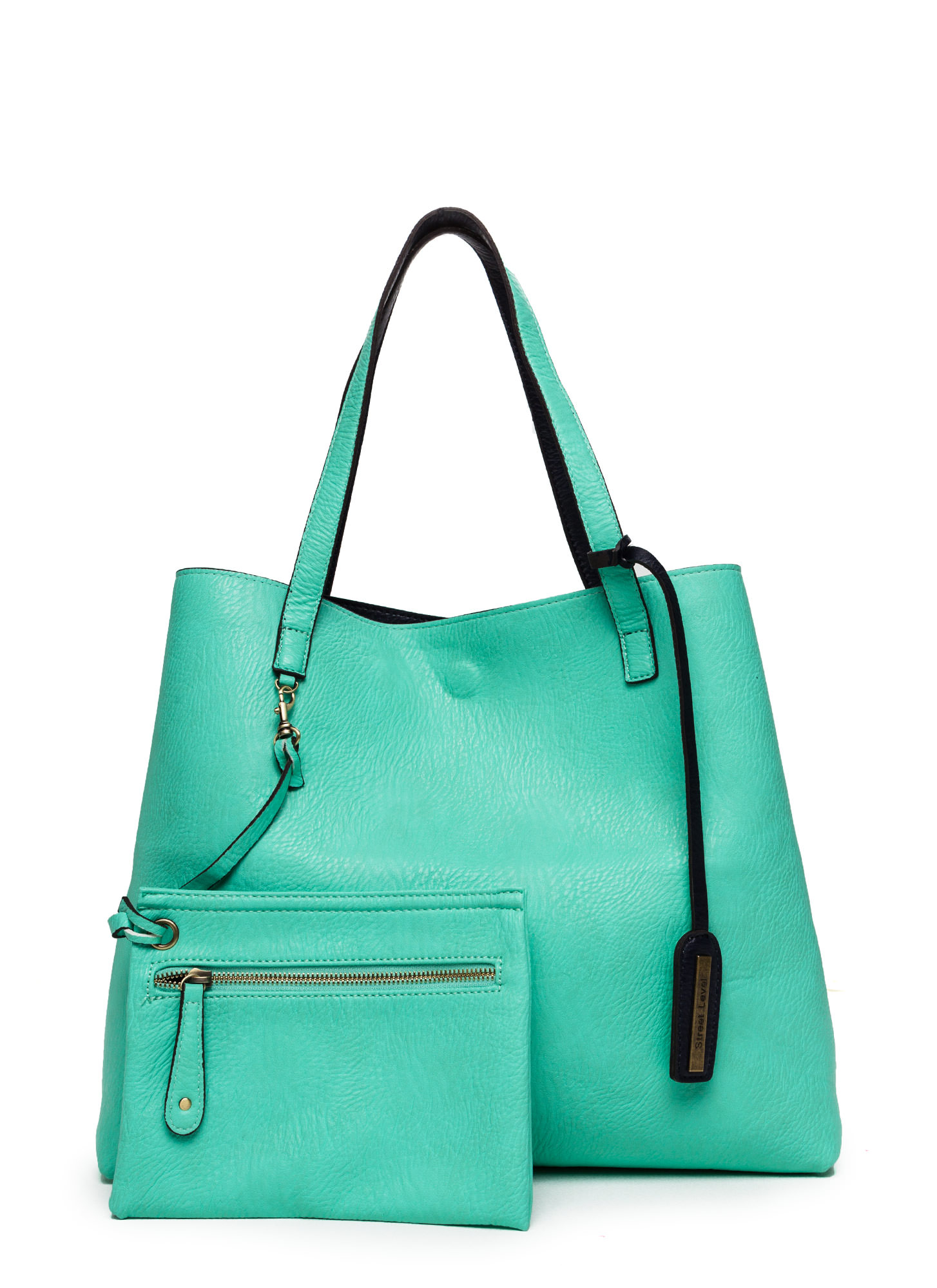 Street Level Two-Tone Reversible Tote Bag BLUEMINT