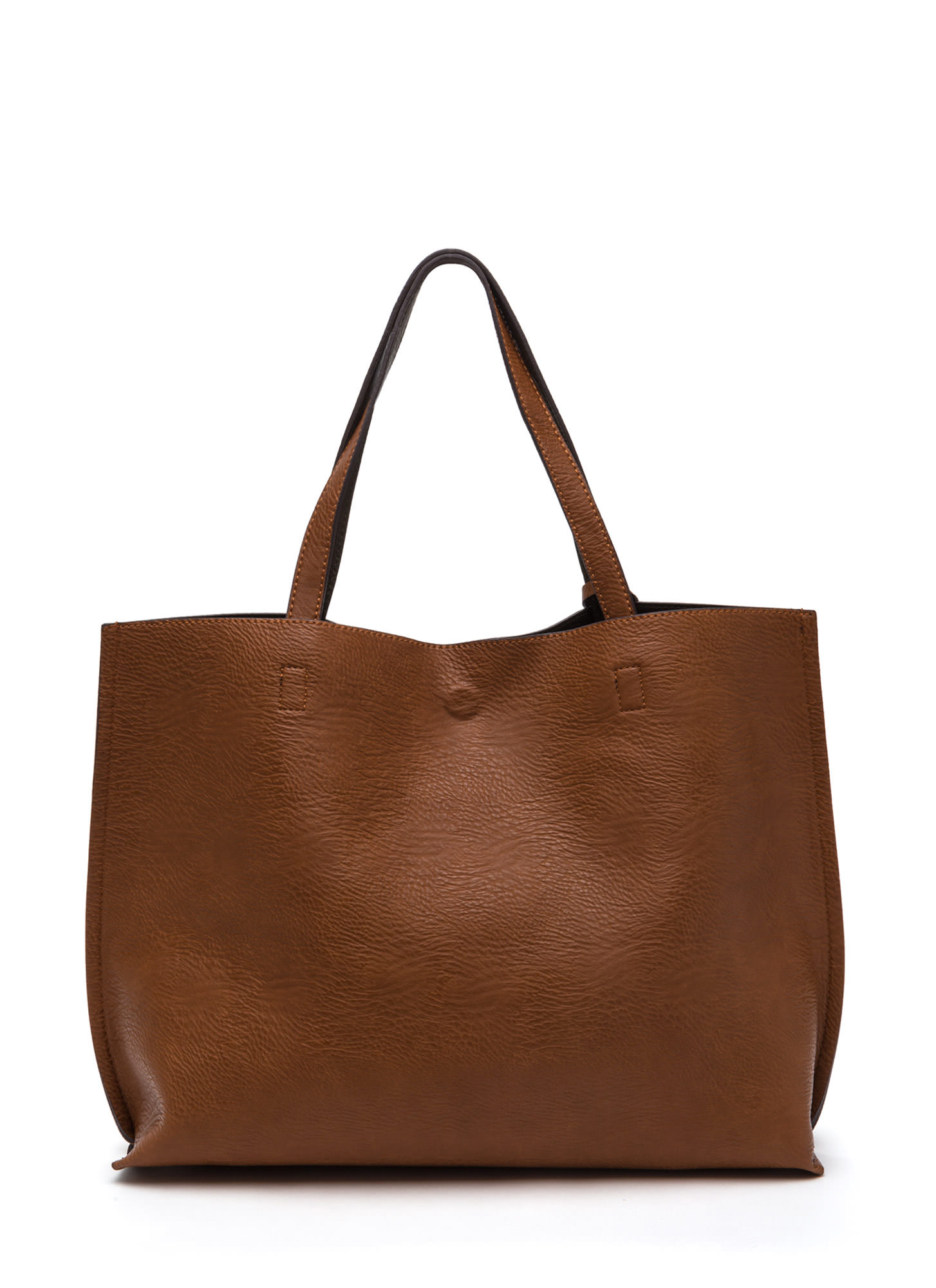 Street Level Two-Tone Reversible Tote Bag BROWNOLIVE