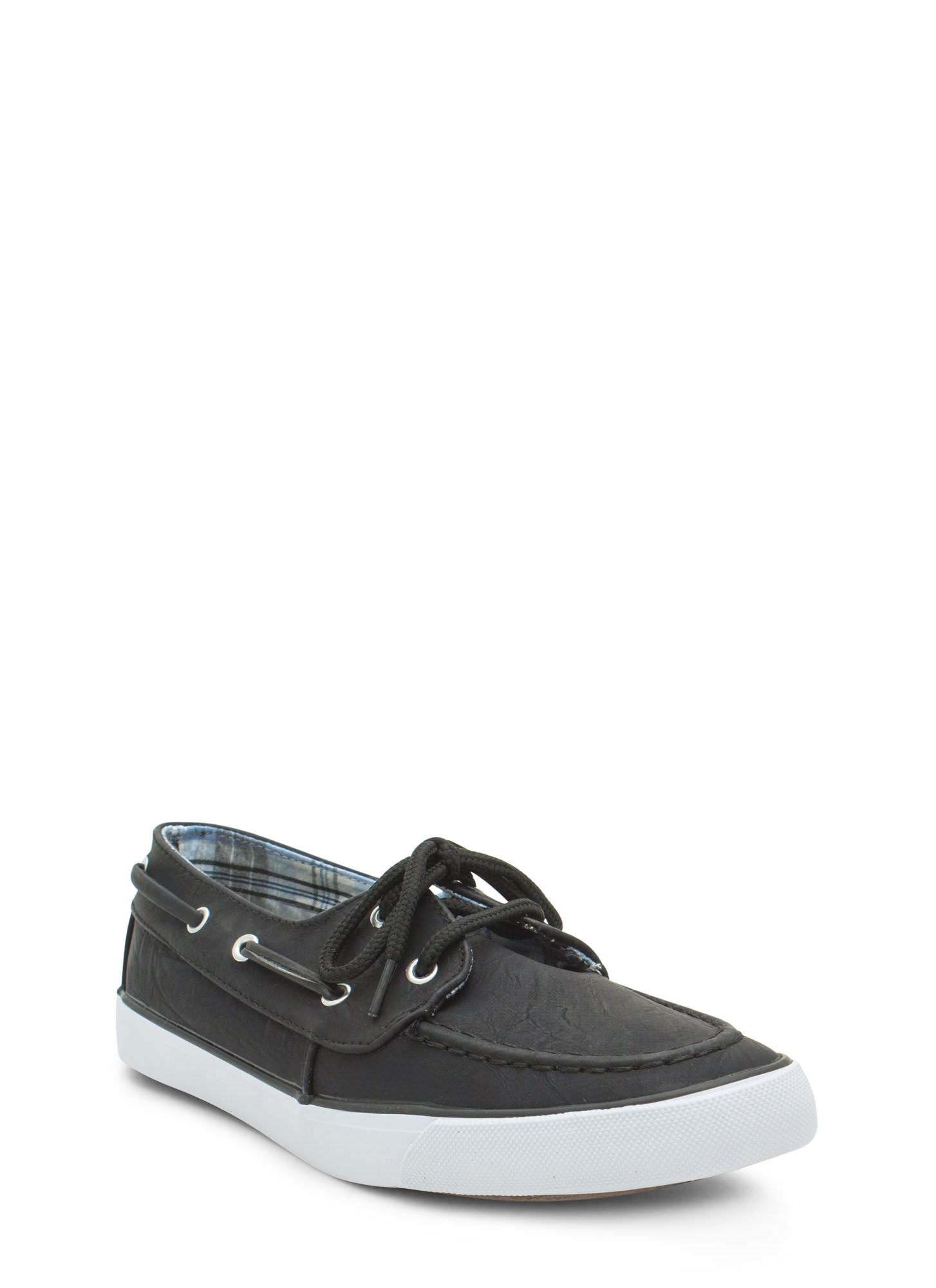 On A Boat Lace-Up Sneakers BLACK