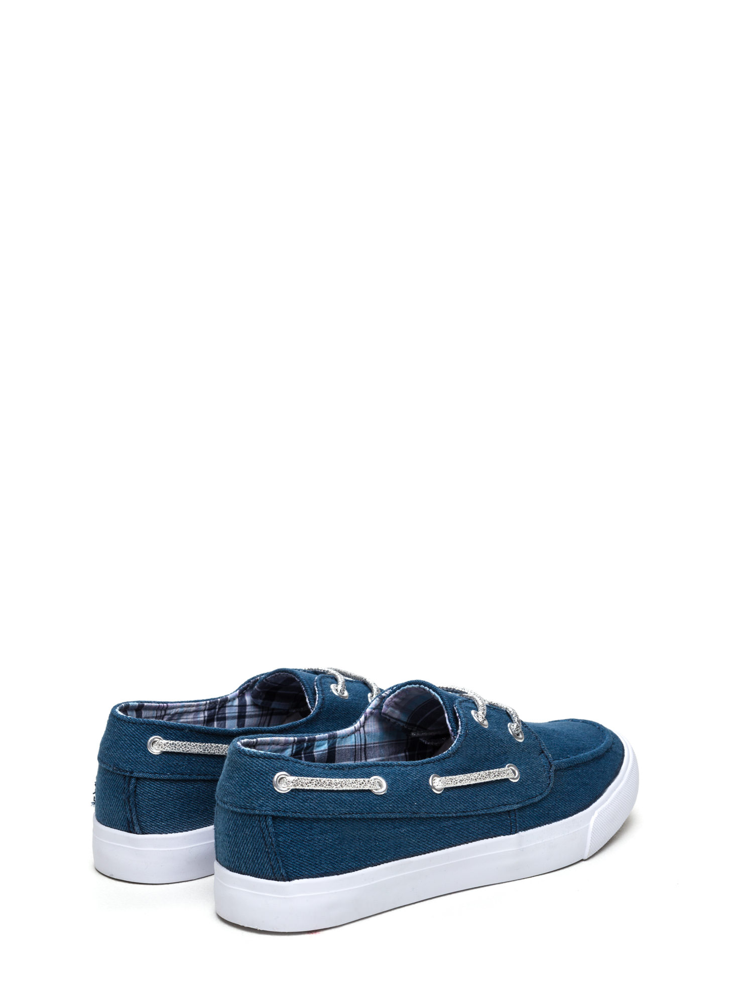 On A Boat Lace-Up Sneakers DENIM