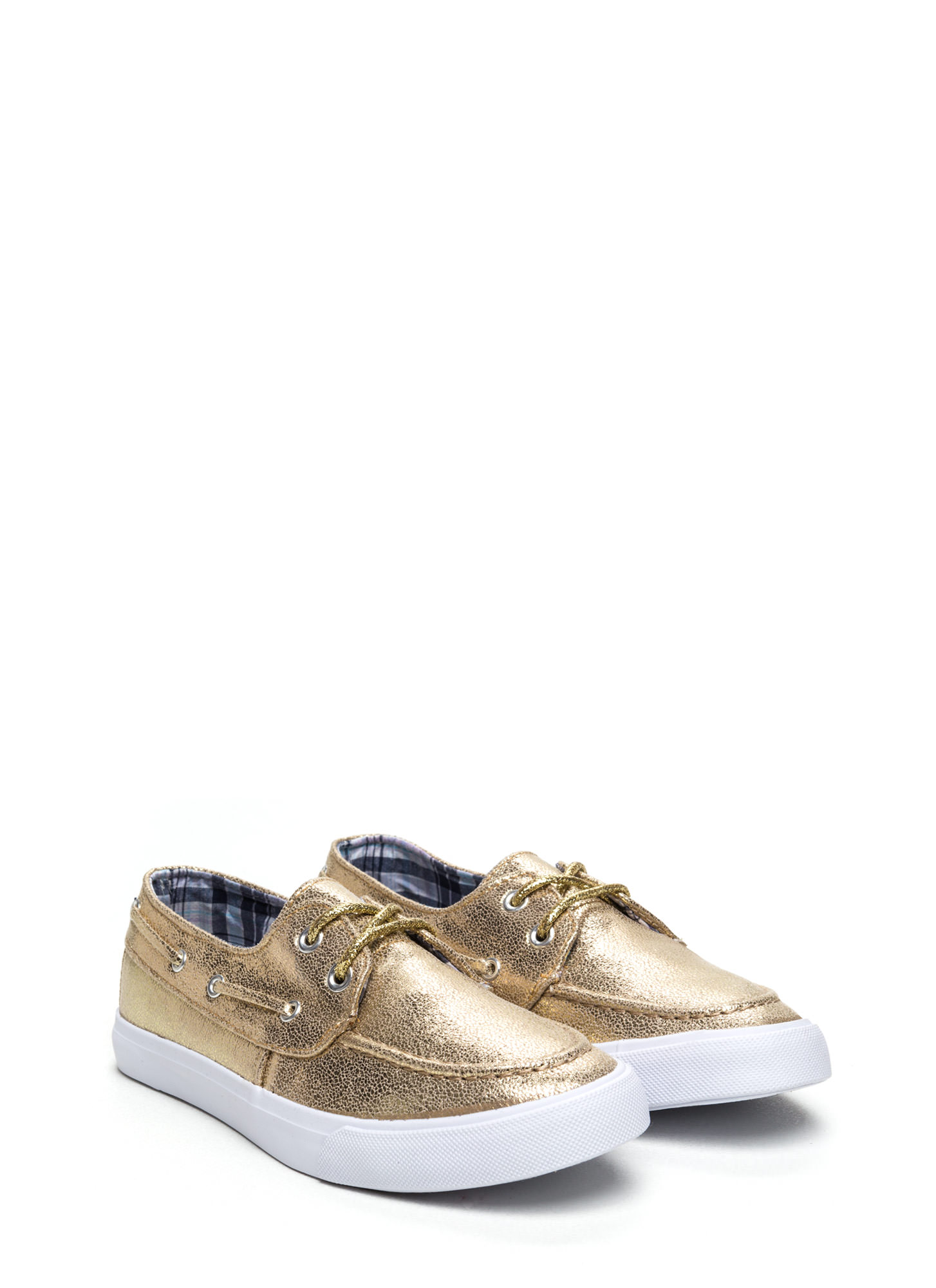 On A Boat Lace-Up Sneakers GOLD