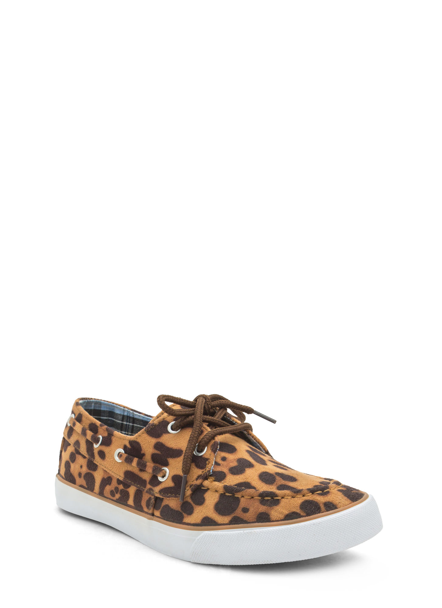 On A Boat Lace-Up Sneakers LEOPARD