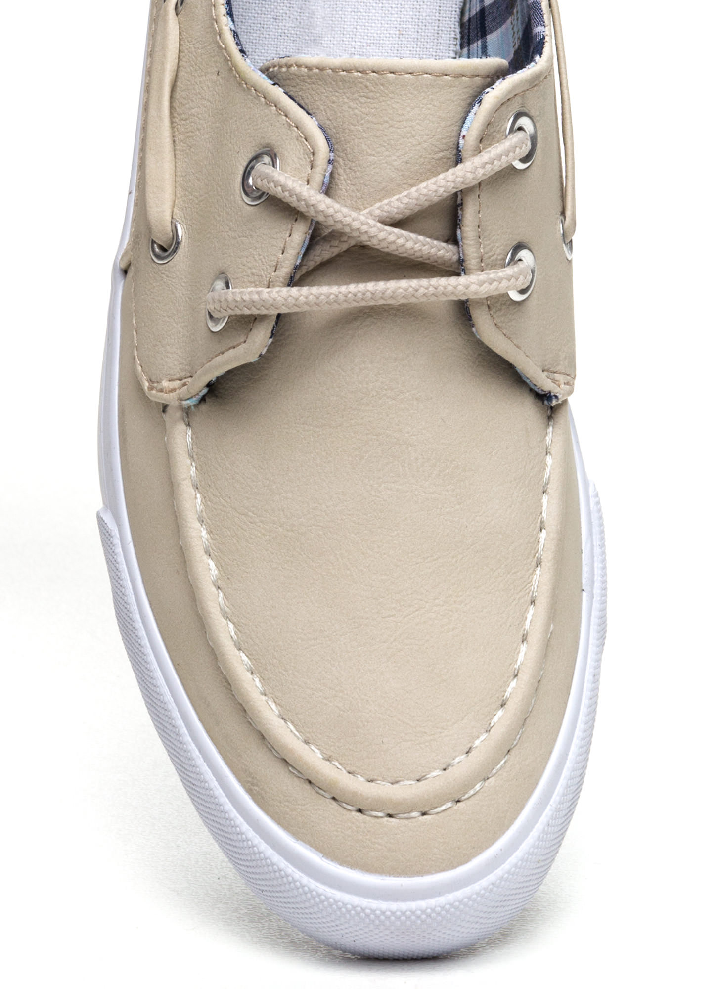 On A Boat Lace-Up Sneakers NUDE