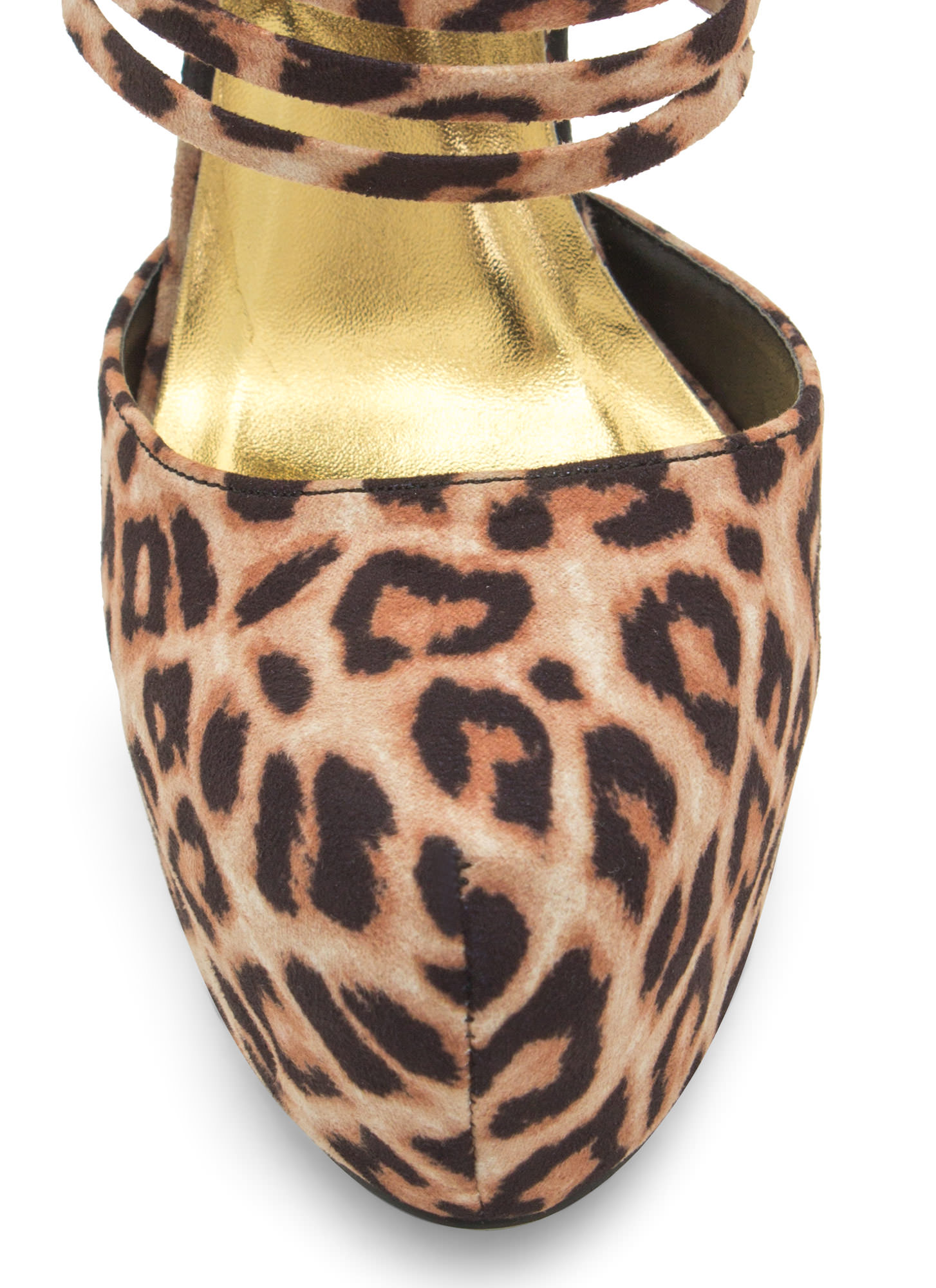 Extra Strap-py D'Orsay Booties LEOPARD