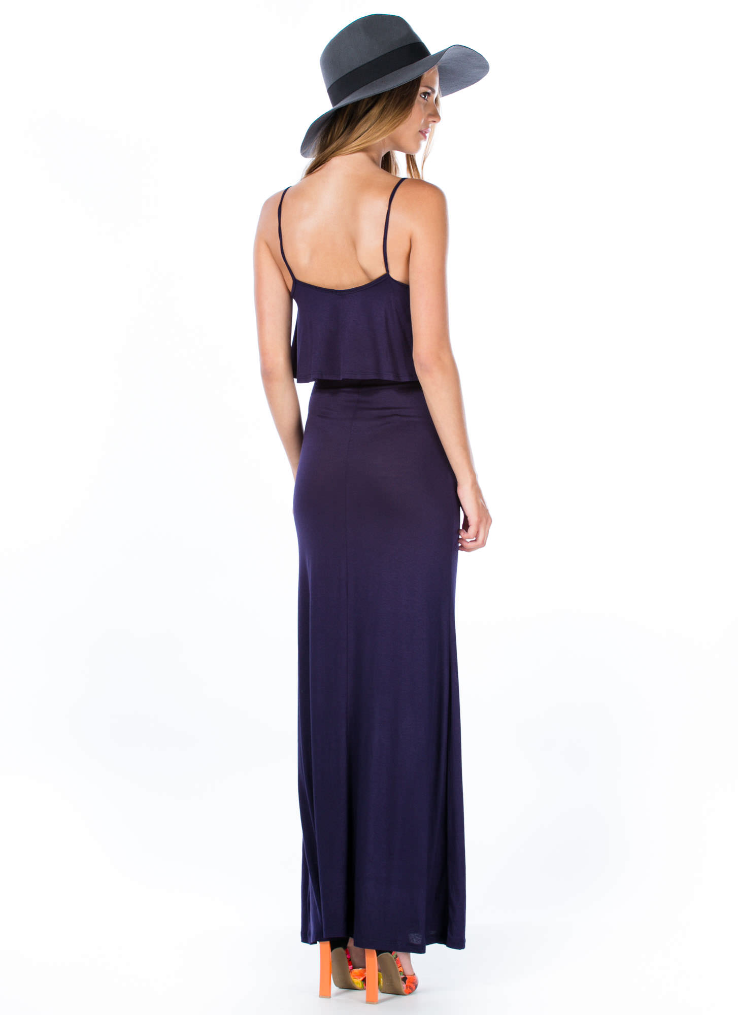 Tier-ly Beloved Strappy Maxi Dress NAVY