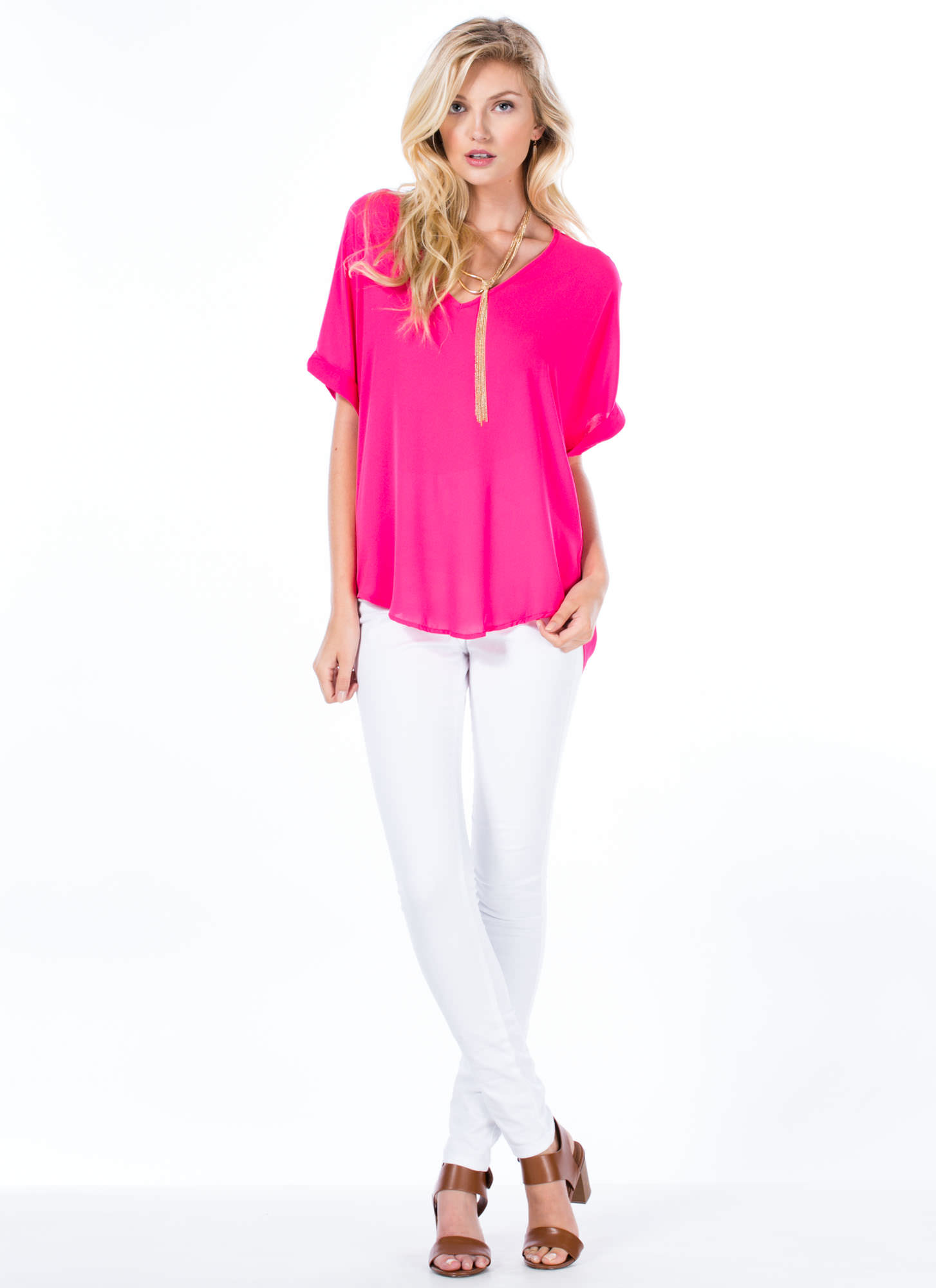 V-Perfect Blouse PINK