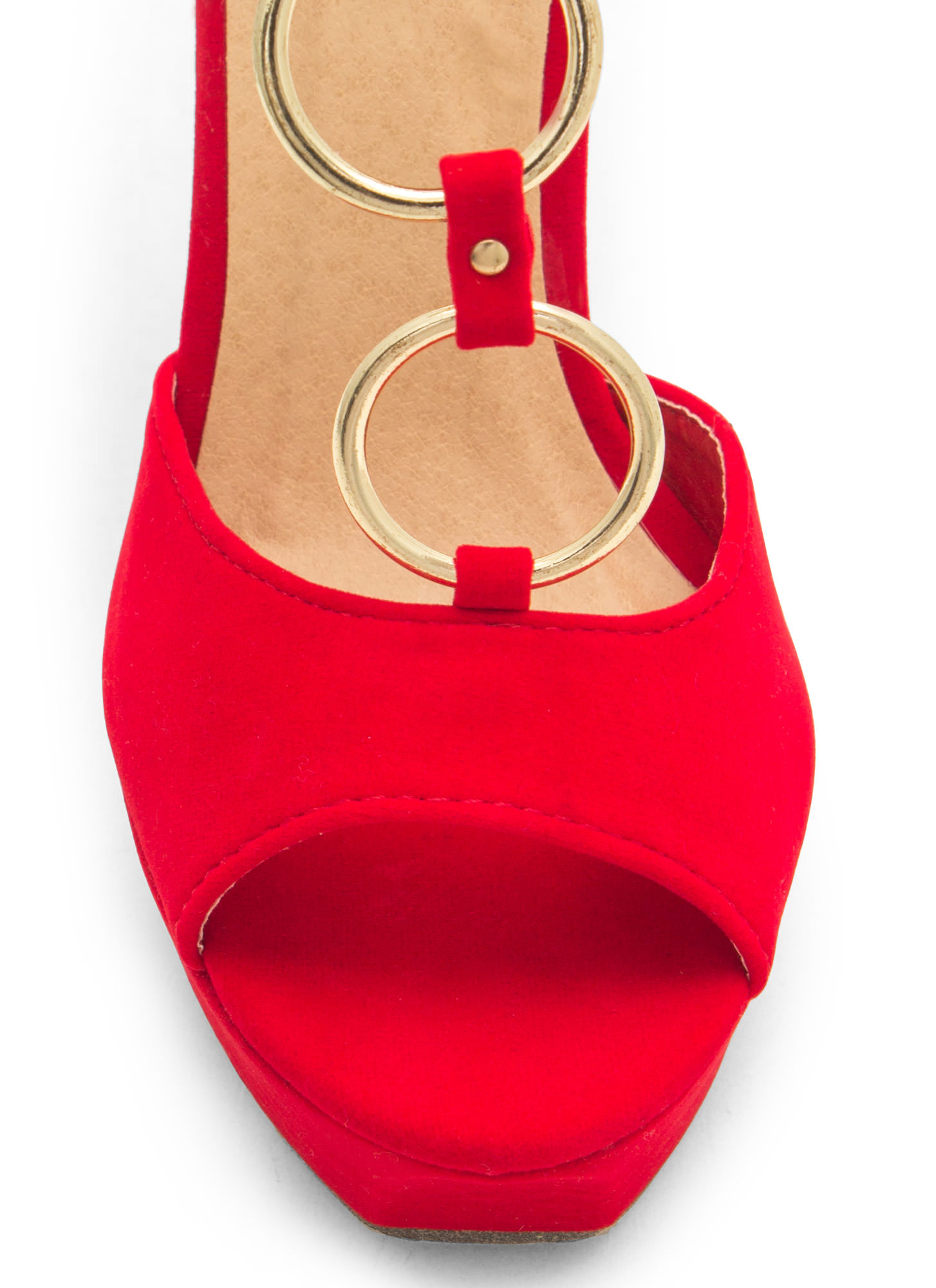 Ring In The New Skinny Stiletto Heels RED