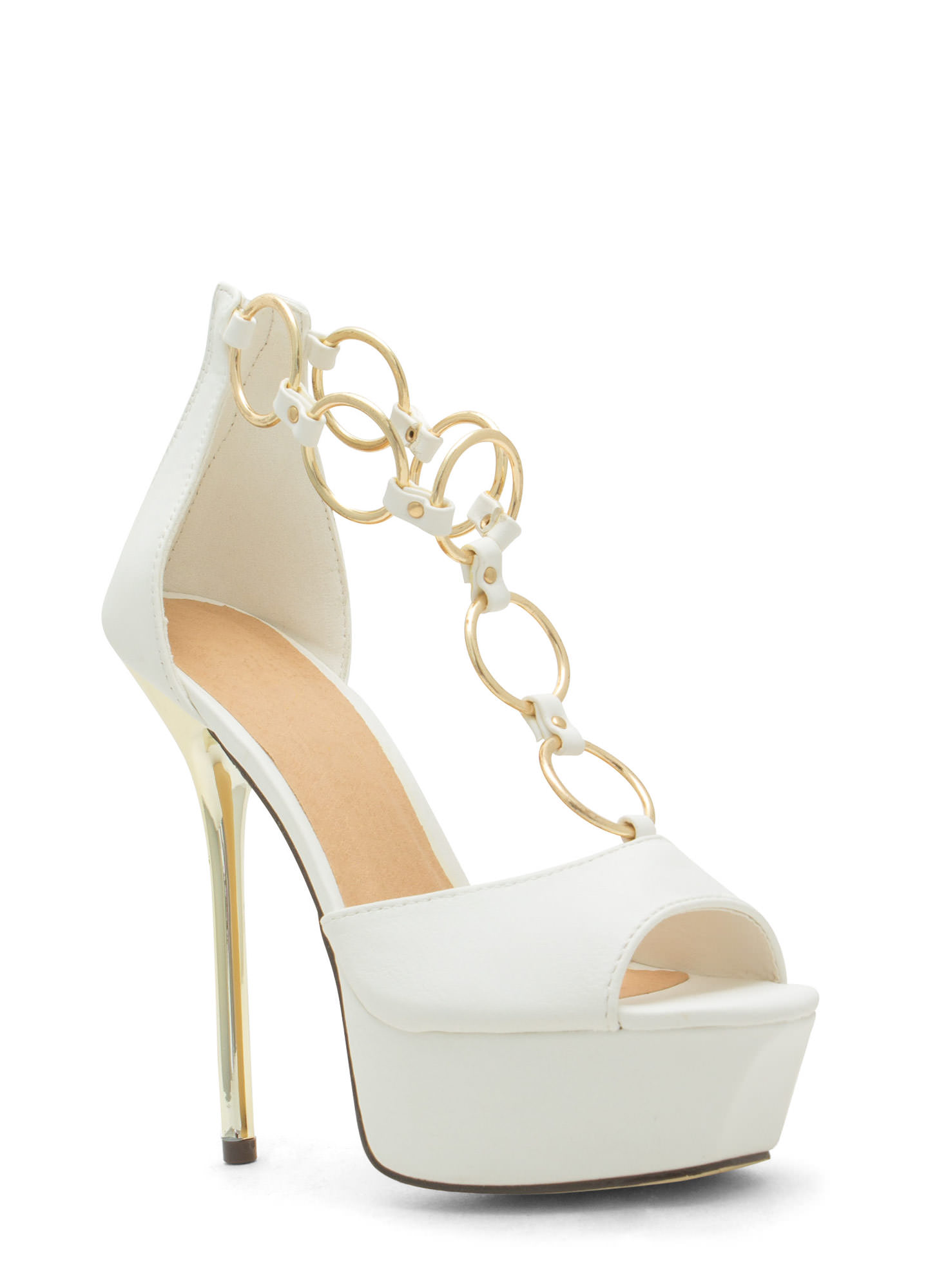 Ring In The New Skinny Stiletto Heels WHITE