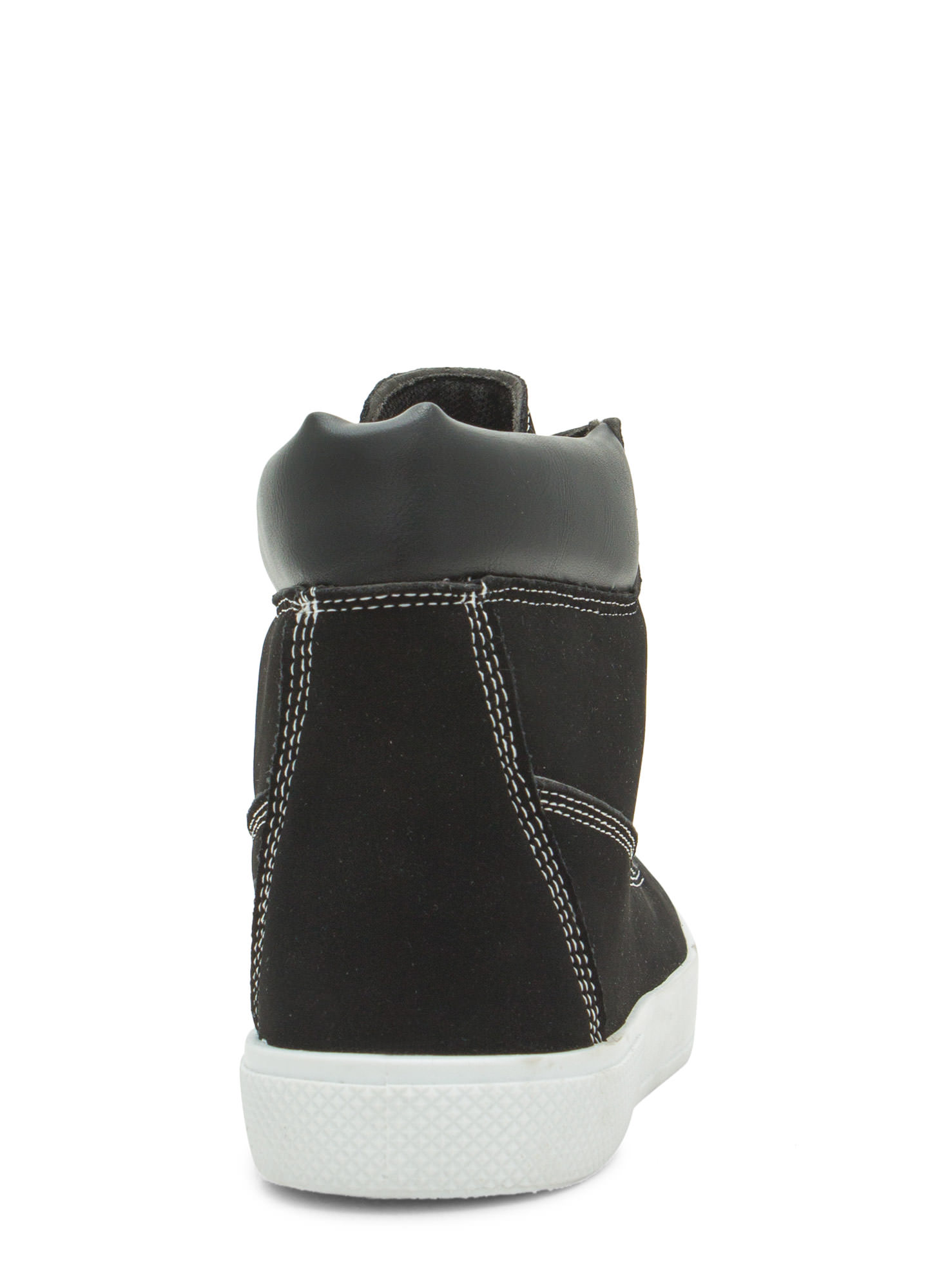 Daily Wear High Top Sneakers BLACK