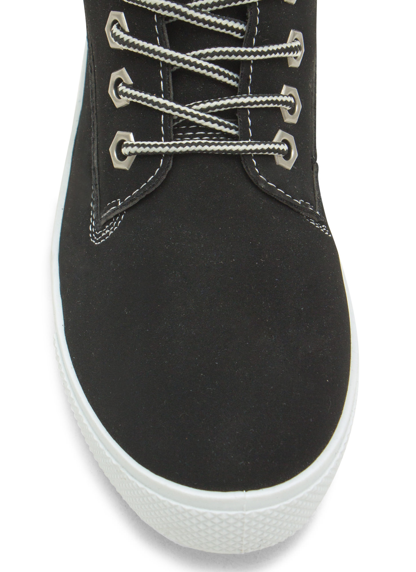 Faux Nubuck High Top Sneakers BLACK