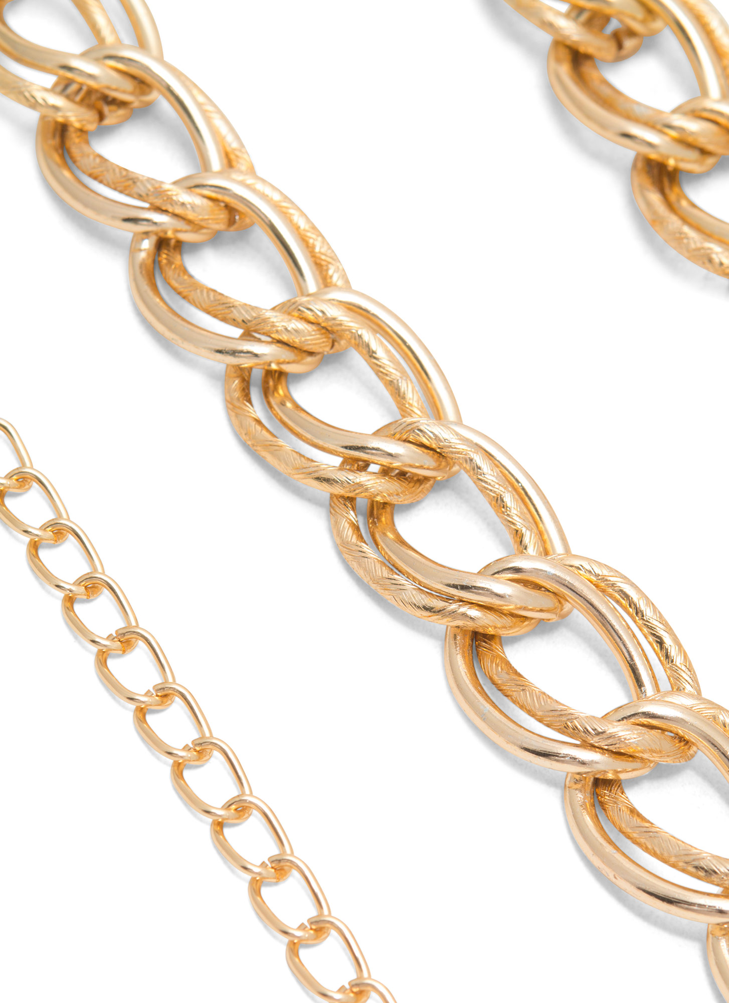 Metallic Double Chain Links Belt GOLD