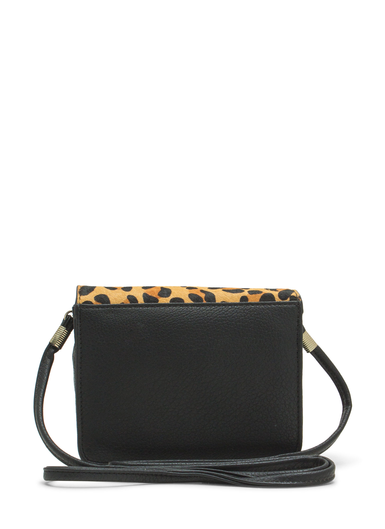 Boxy Pony Hair Clutch BLKLEO