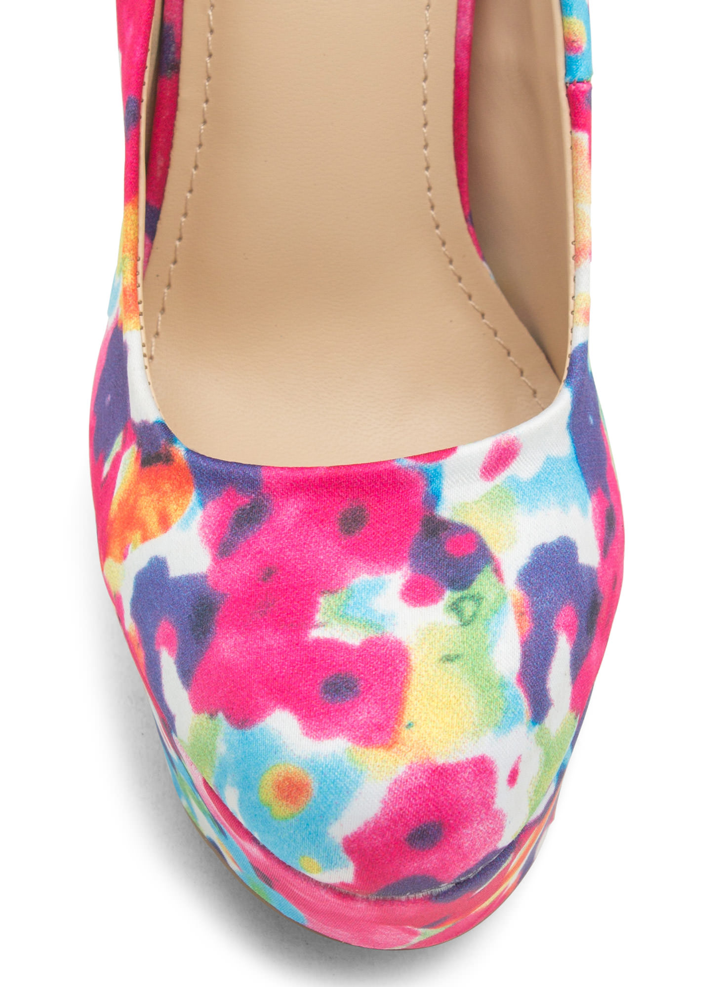 Watercolor Wonderland Floral Platforms FUCHSIA