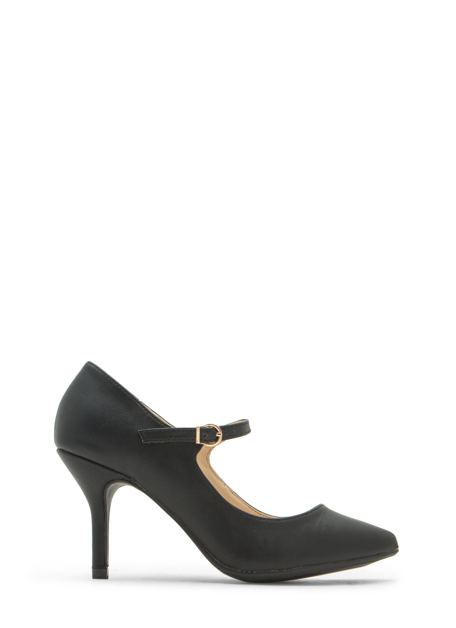 Made 4 Strutting Mary Jane Heels BLACK
