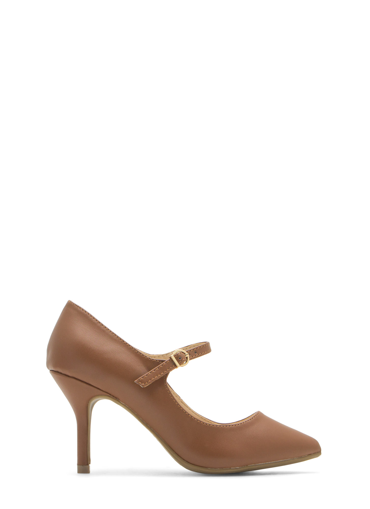 Made 4 Strutting Mary Jane Heels CHESTNUT