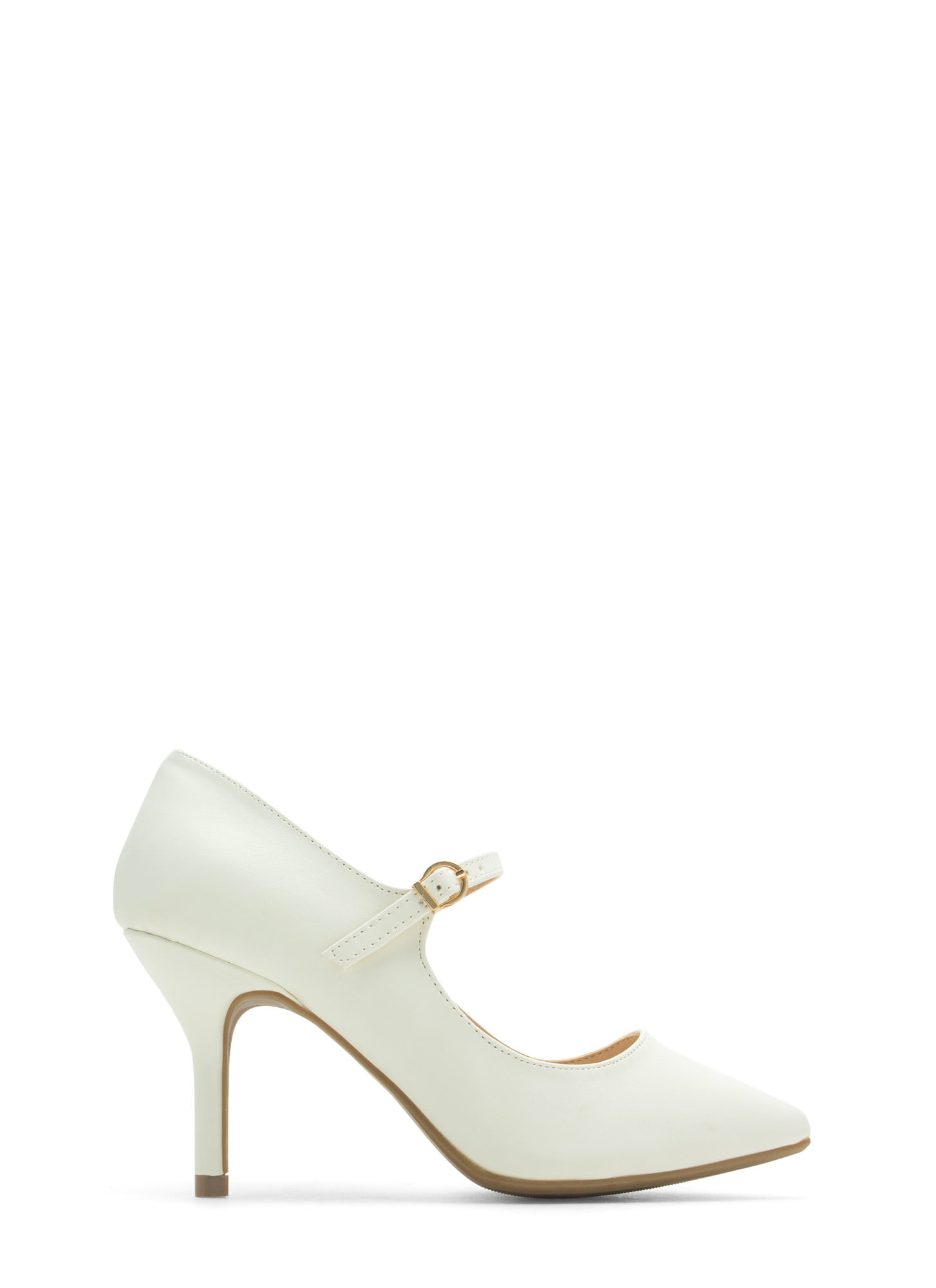 Made 4 Strutting Mary Jane Heels WHITE