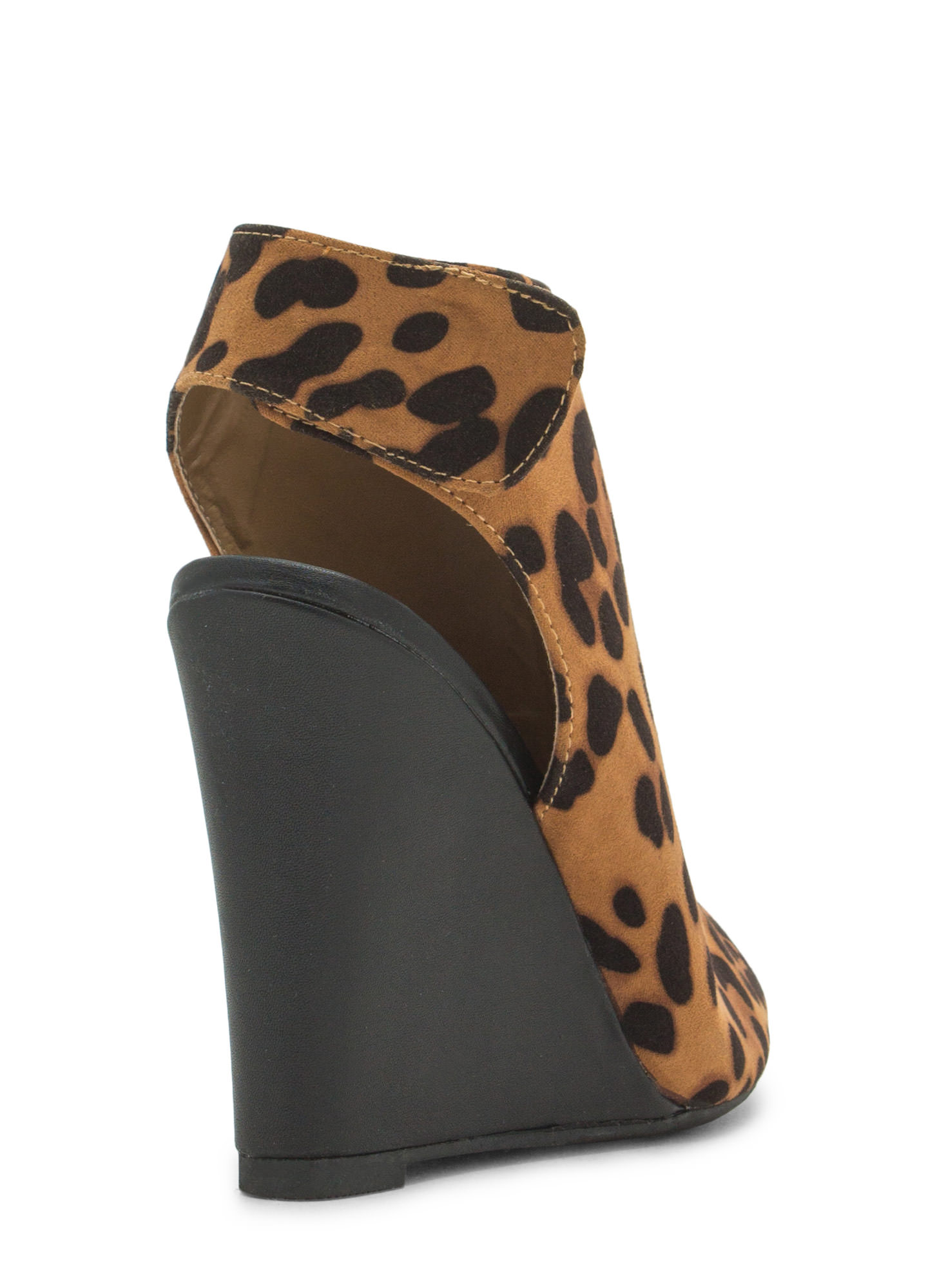 Haute 'N Chic Wedge Booties LEOPARD