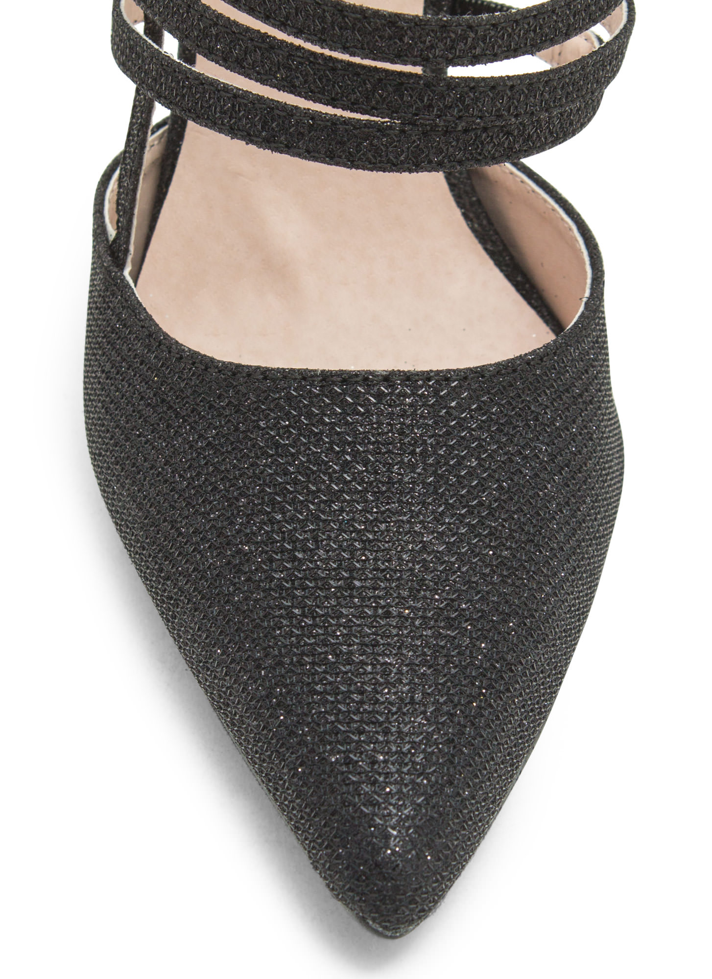 Catch A Sparkle Pointy Heels BLACK