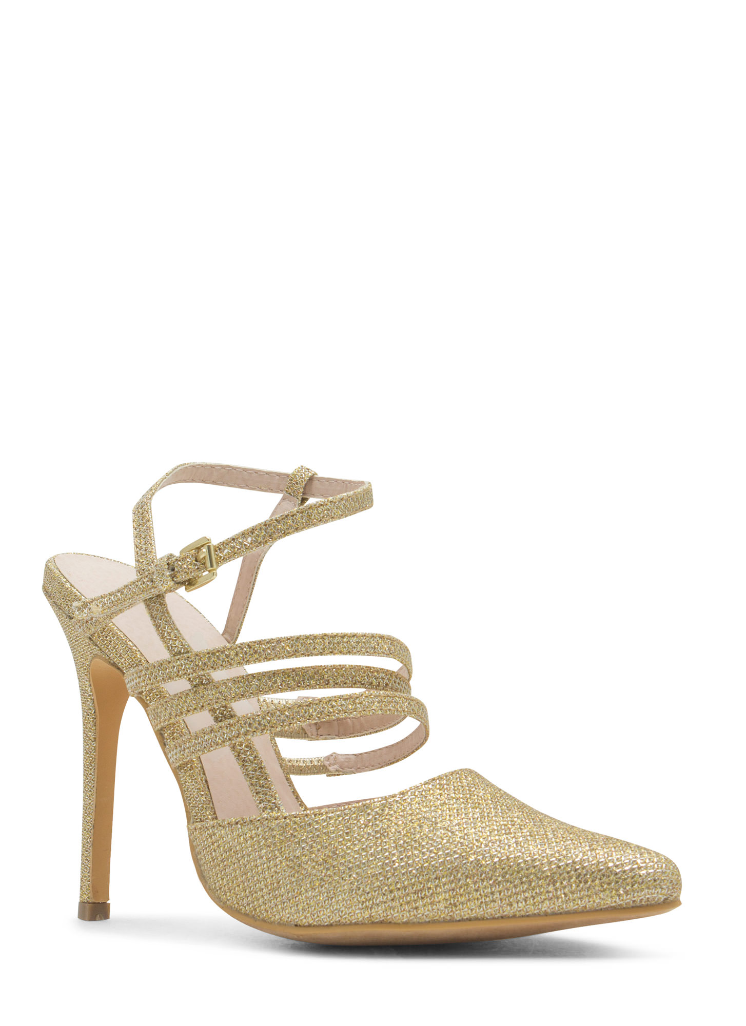 Catch A Sparkle Pointy Heels GOLD