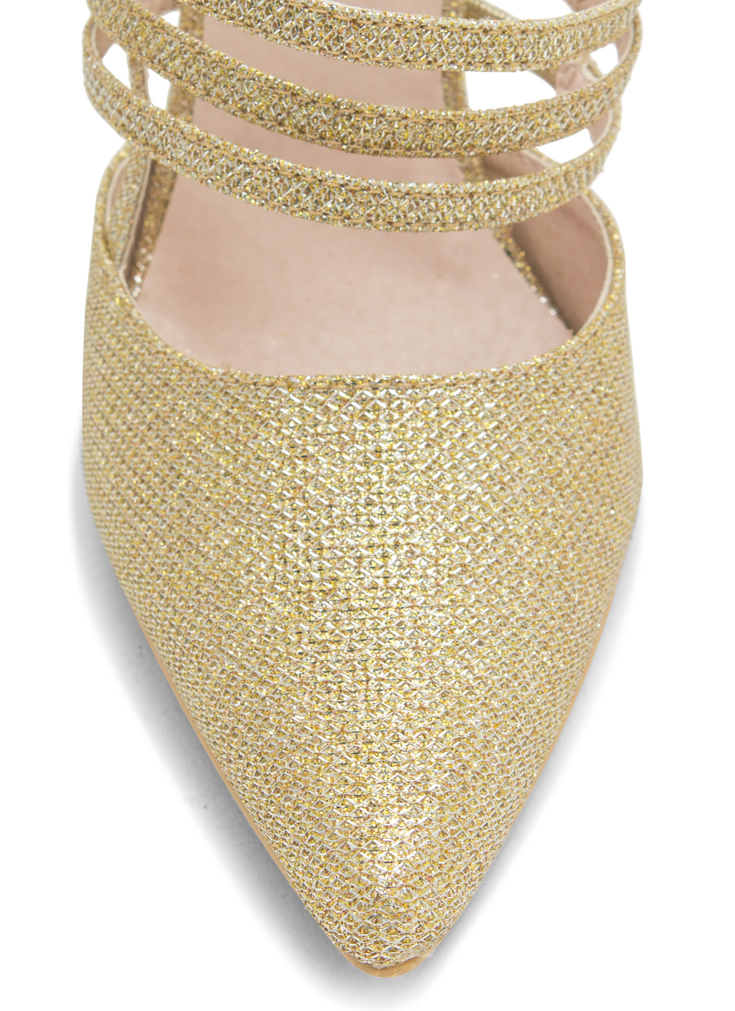 Catch A Sparkle Pointy Heels GOLD (Final Sale)