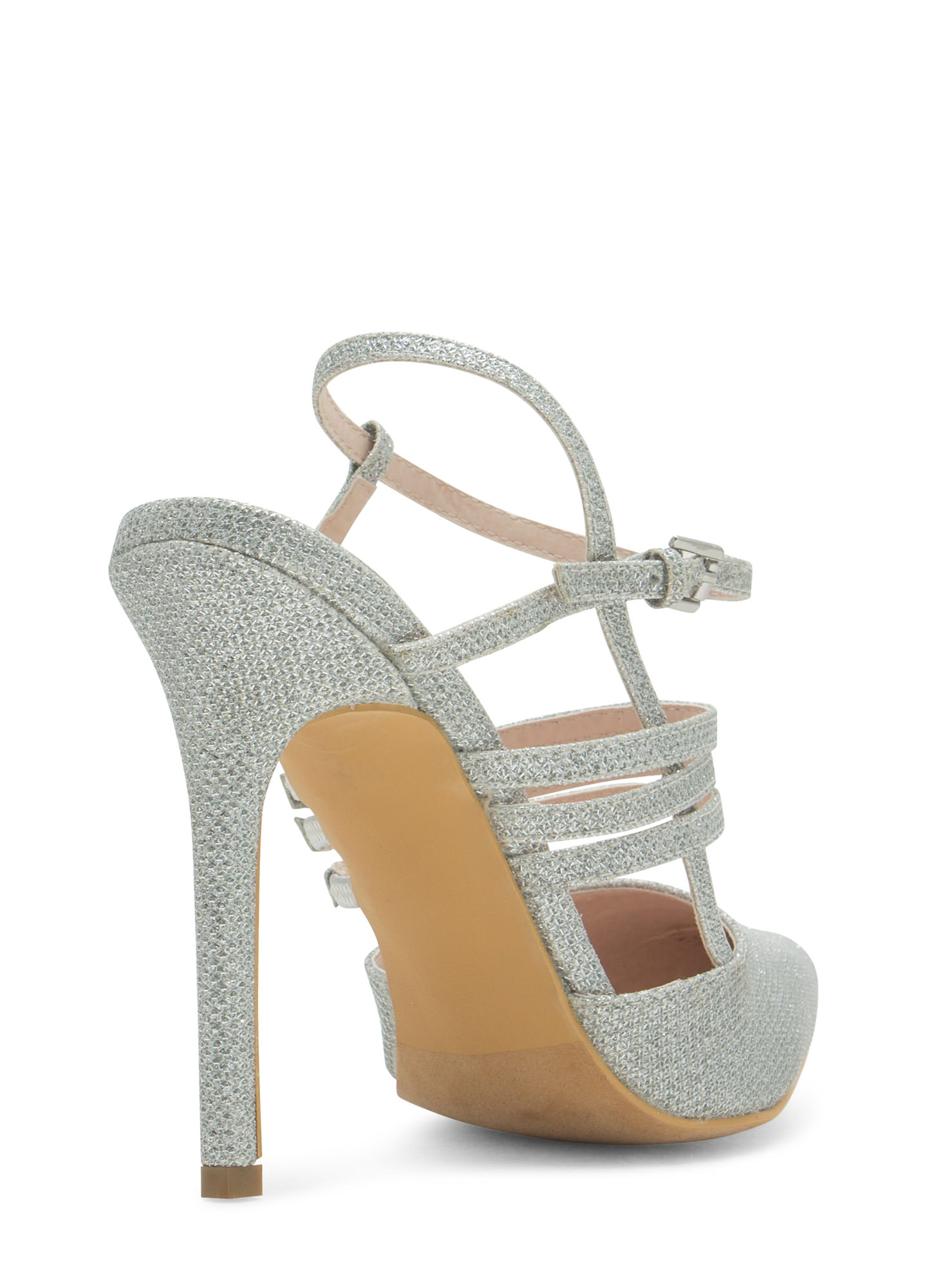 Catch A Sparkle Pointy Heels SILVER (Final Sale)