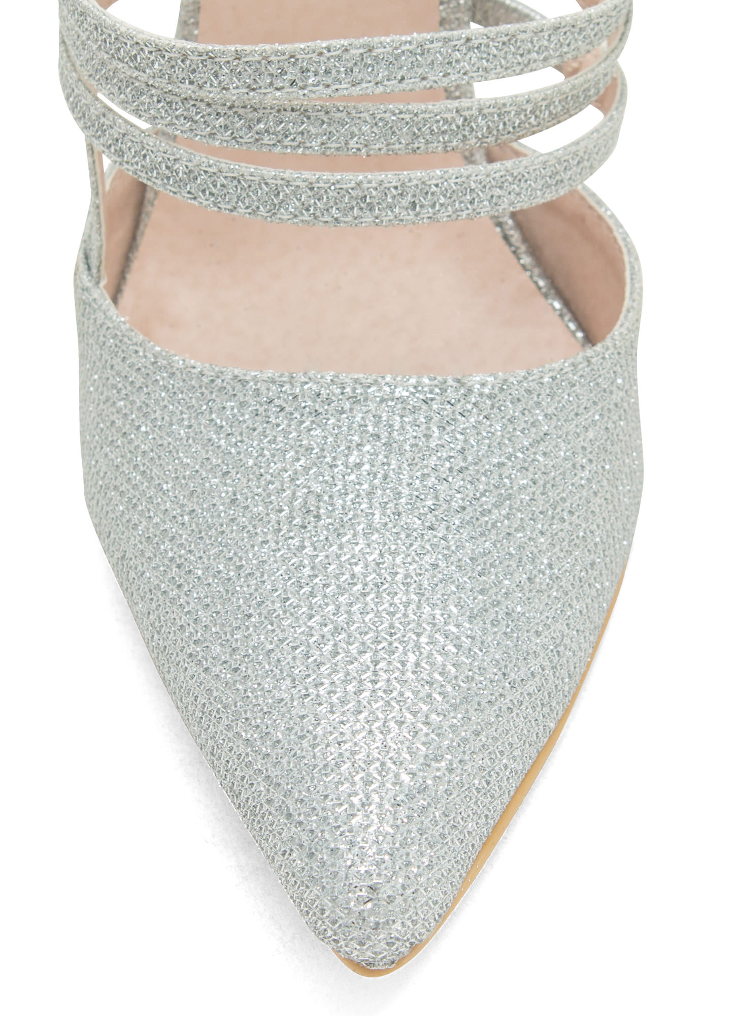 Catch A Sparkle Pointy Heels SILVER