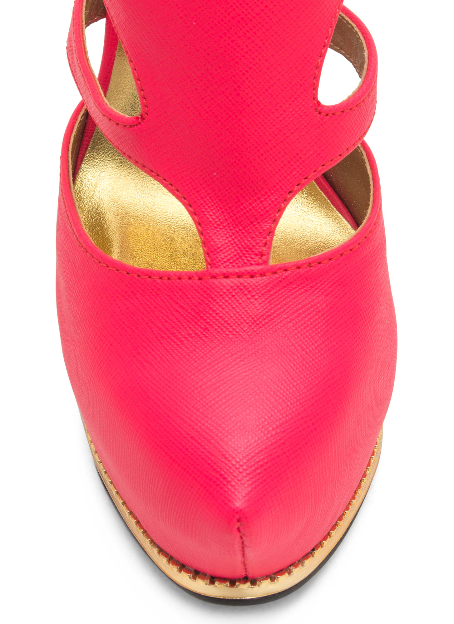 Textured Toothsome Strappy Platforms FUCHSIA