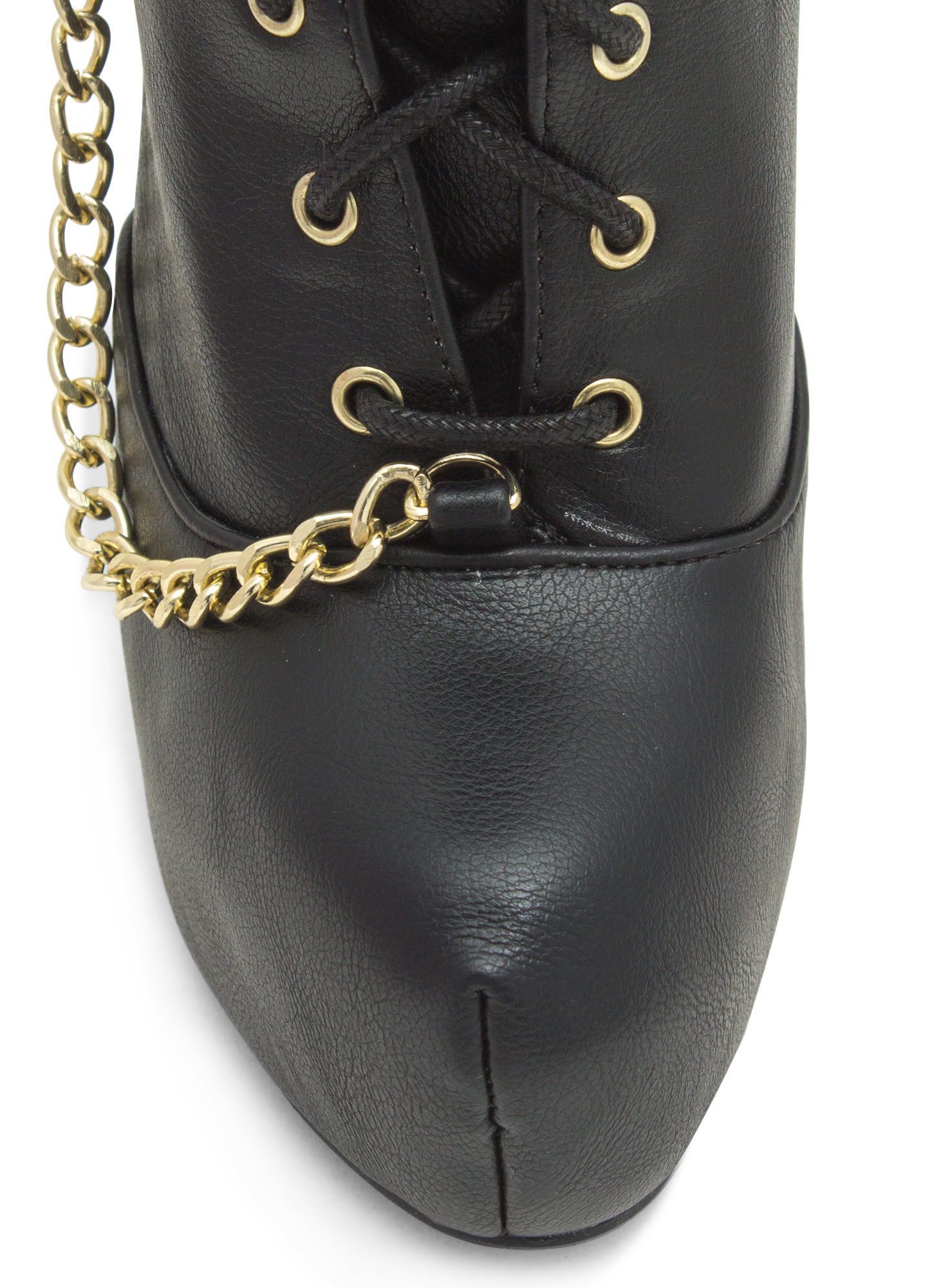 Do Your Chain Hang Low Booties BLACK