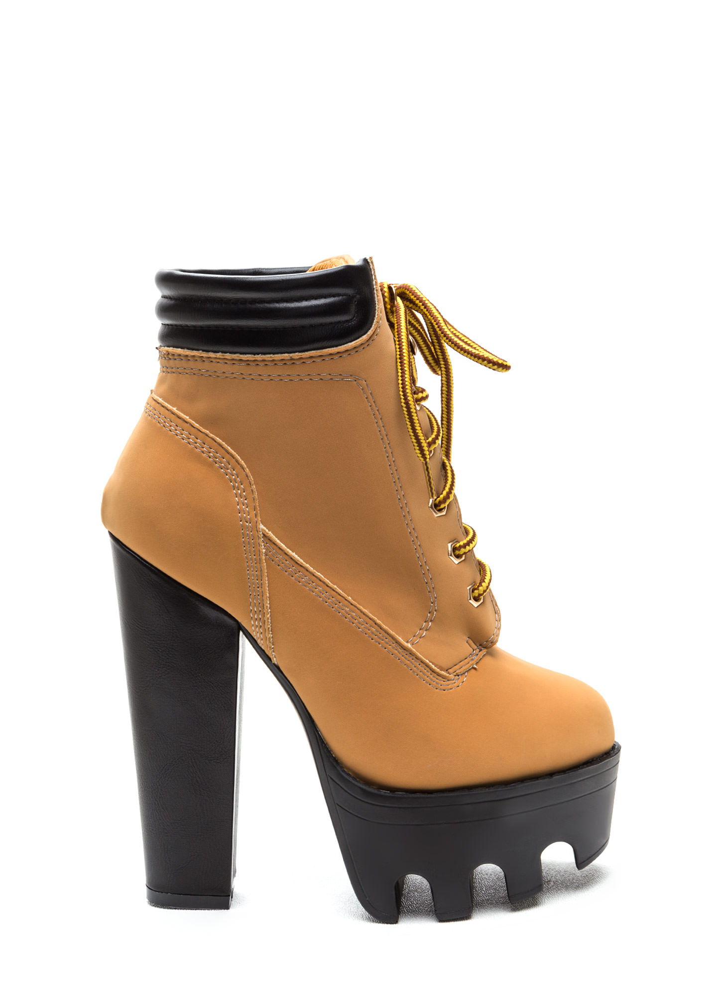 Tread Ruggedly Faux Nubuck Booties CAMEL