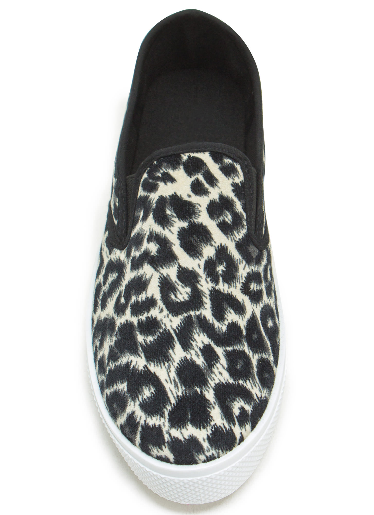 Skate Park Print-cess Slip-On Sneakers BLACKLEO
