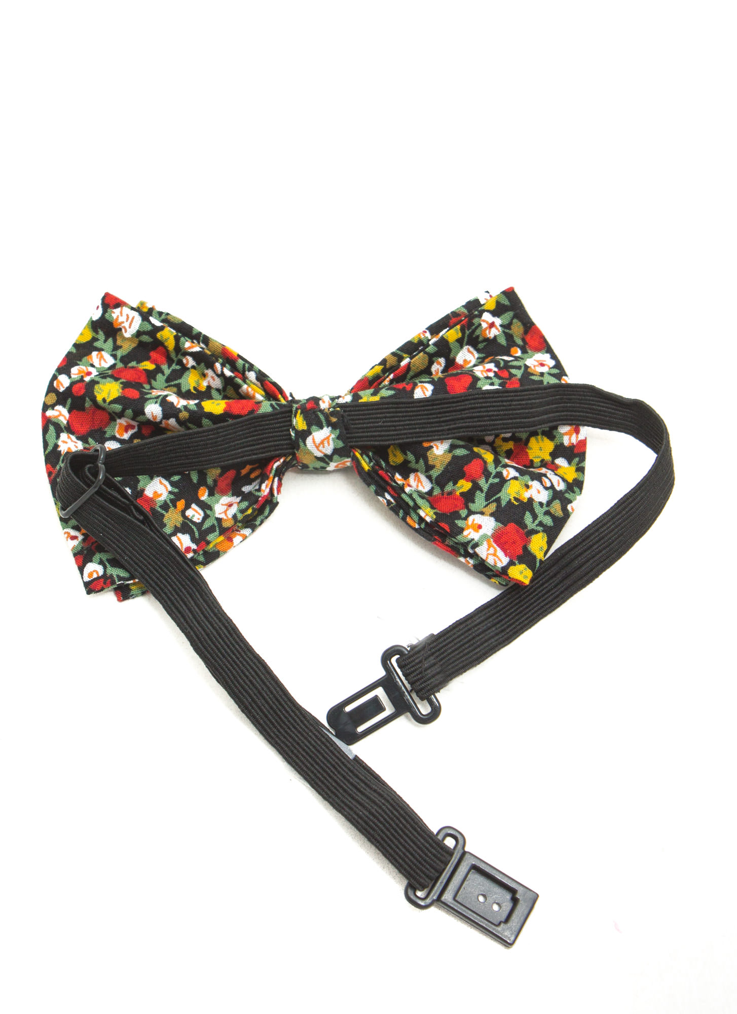 Floral Double Layer Bowtie BLKMULTI