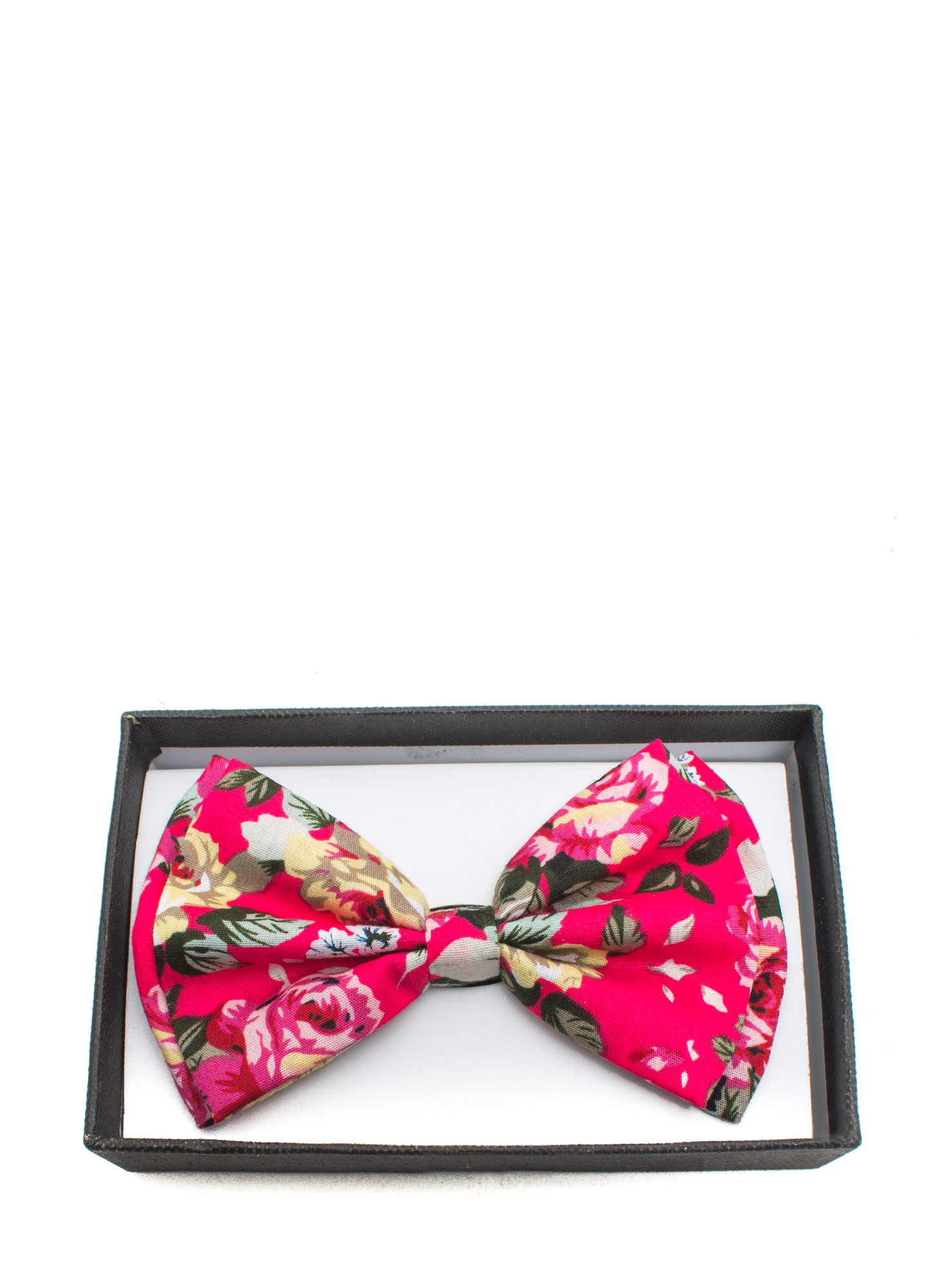 Floral Double Layer Bowtie FUCHSIAPINK