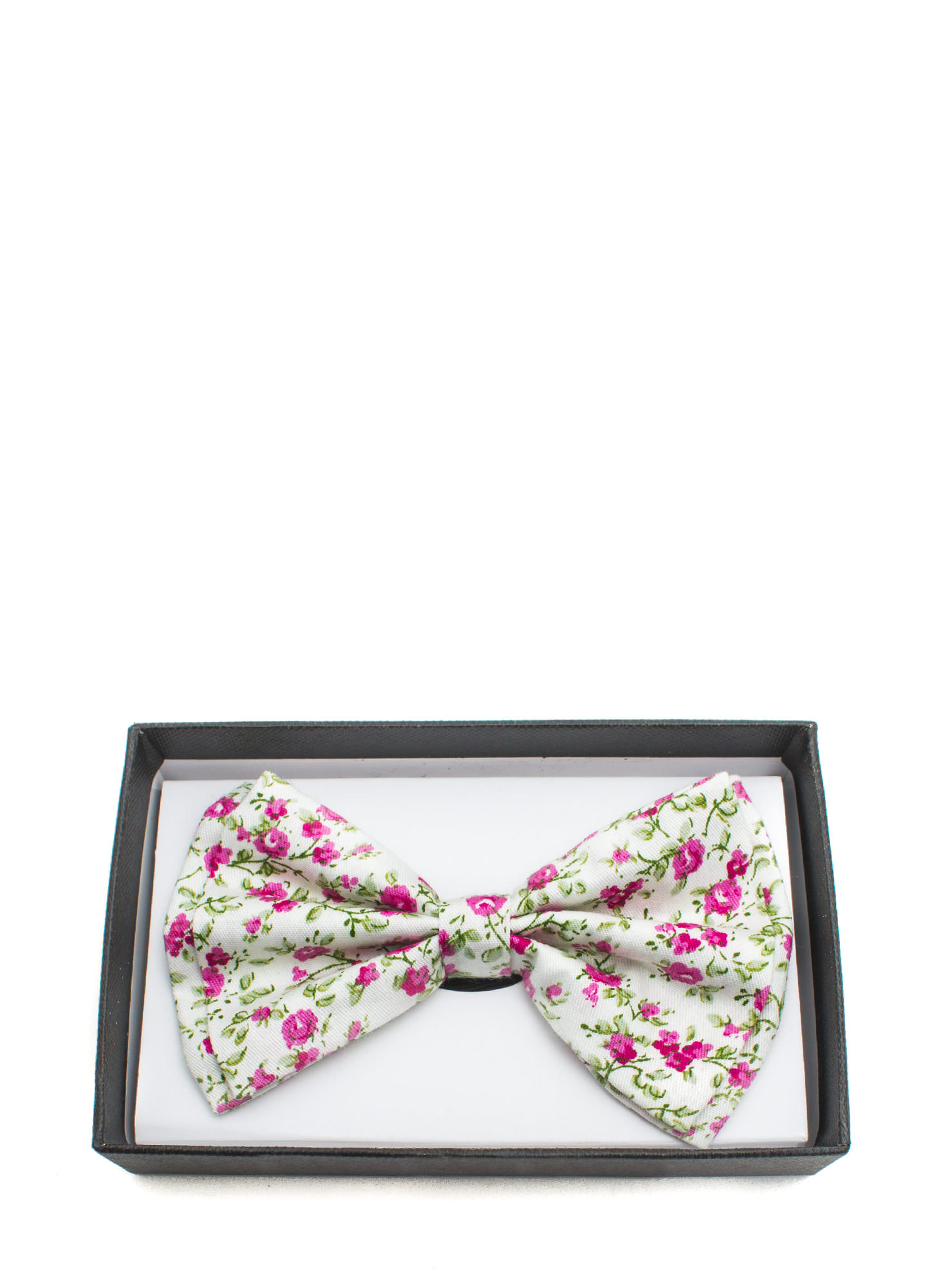Floral Double Layer Bowtie WHITE