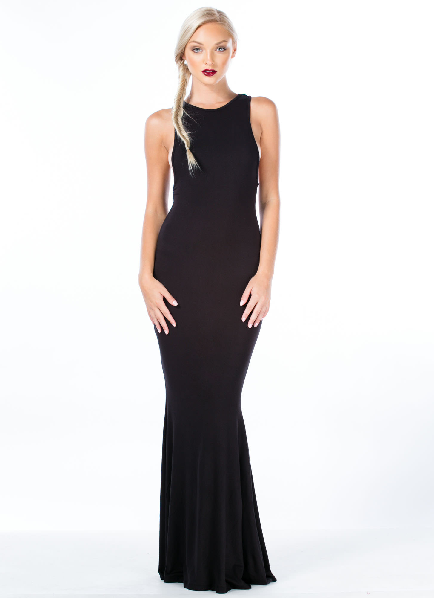 Flex Your Muscle Tank Mermaid Maxi BLACK