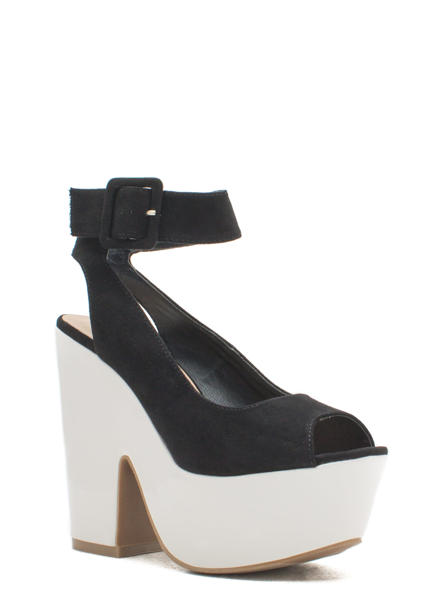 Thru Thick 'N Thin Platform Heels BLACK